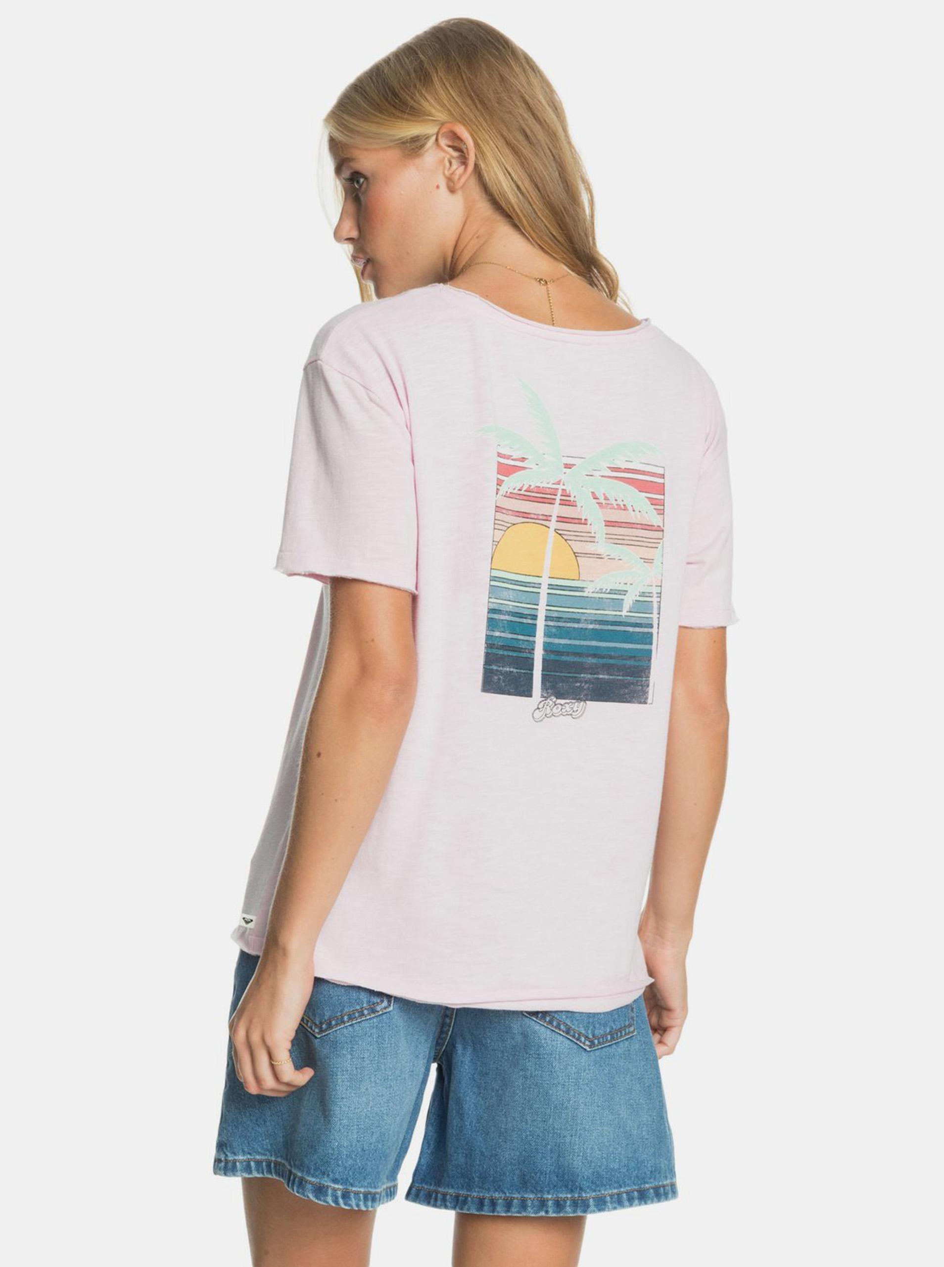 Roxy pudrate tricou cu imprimeu