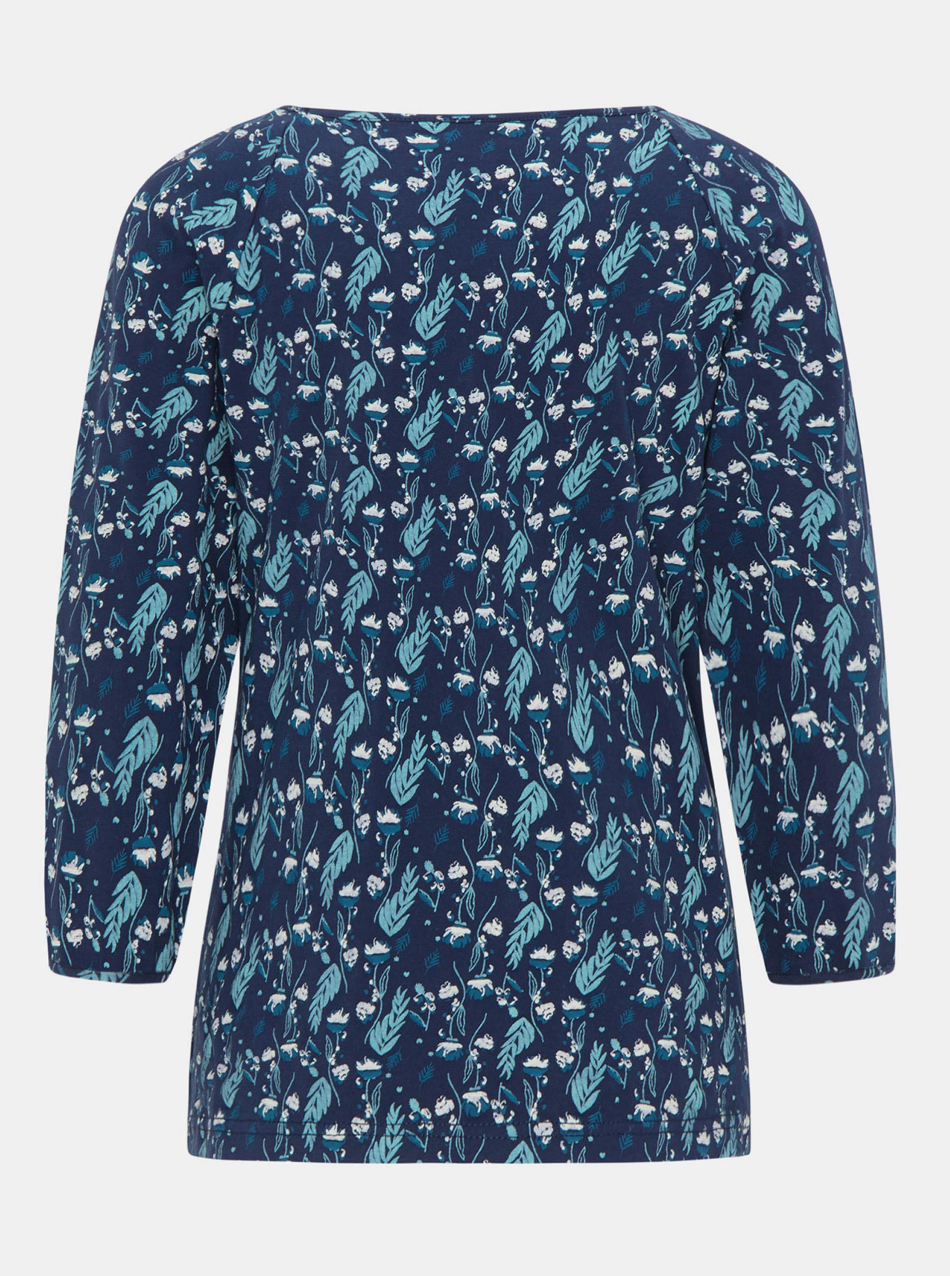 Tranquillo albastre tricou cu motiv floral