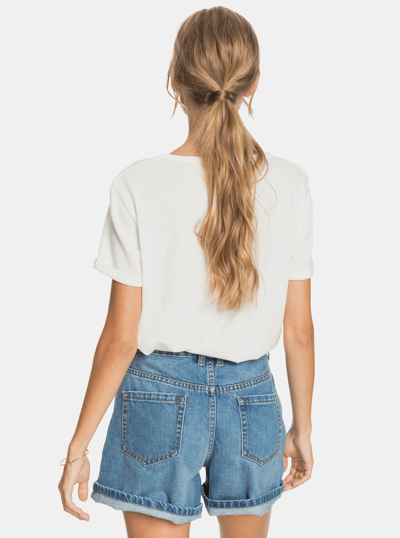Roxy albe tricou cu imprimeu