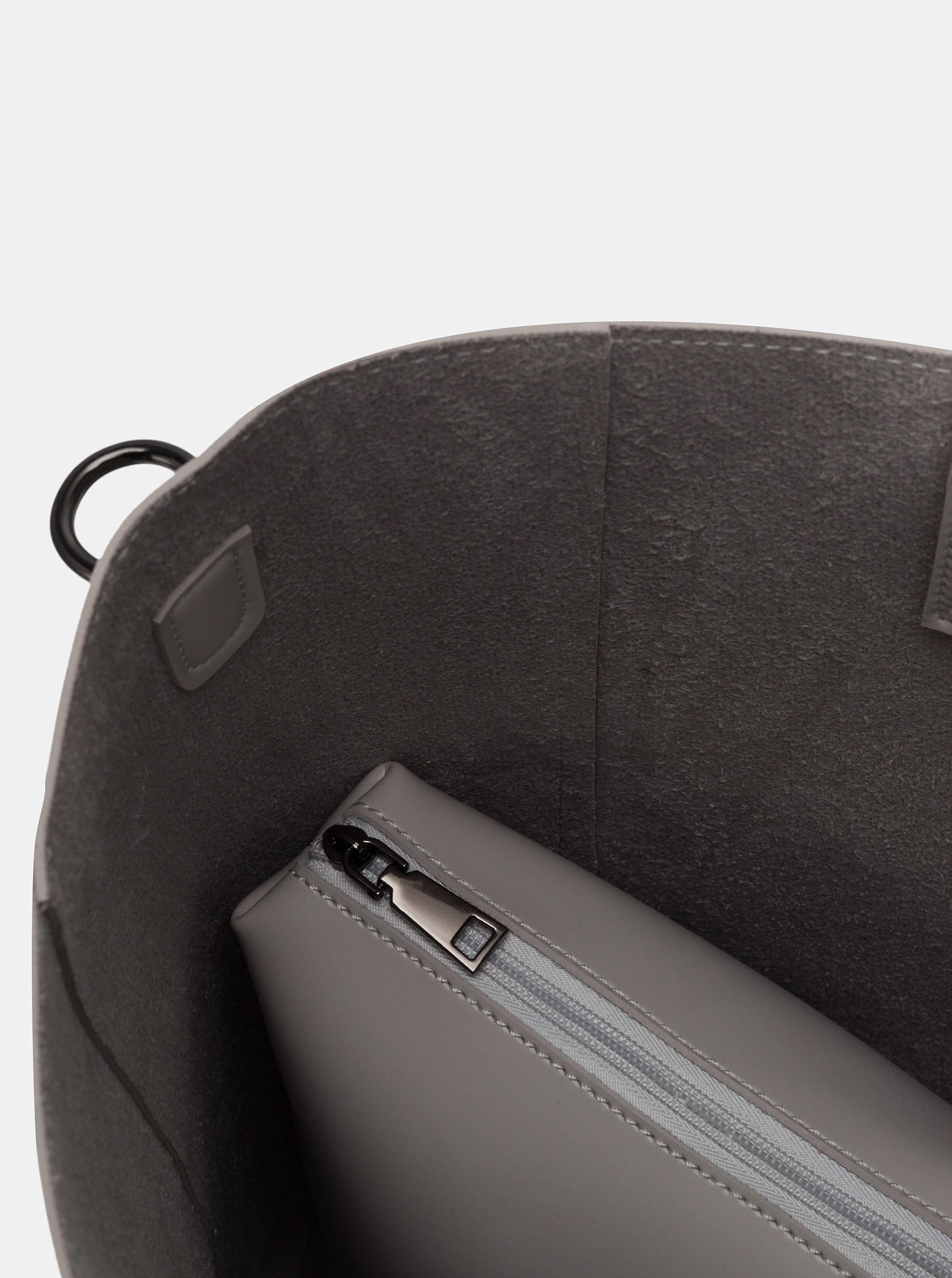 Claudia Canova gri mare geanta