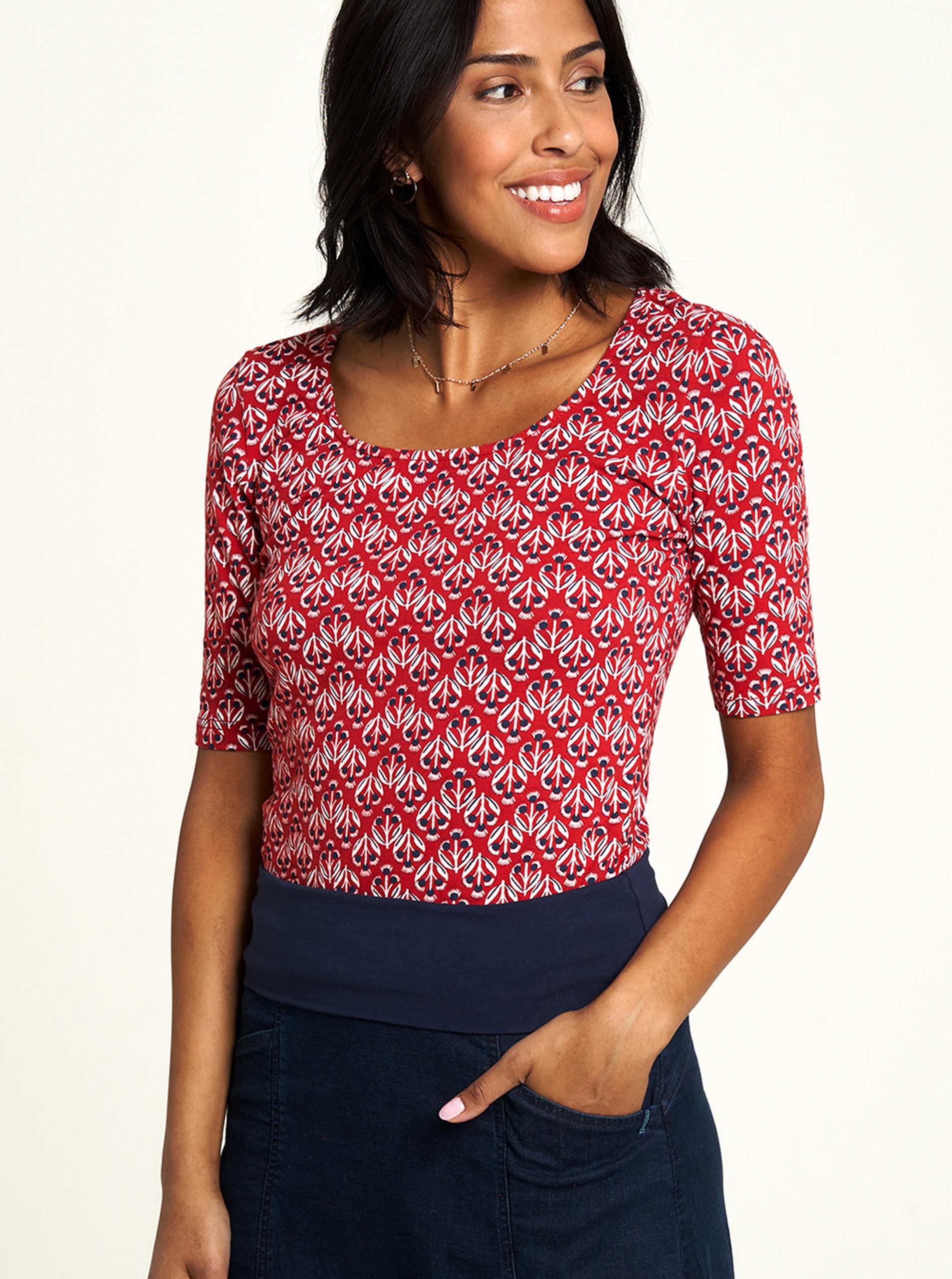 Tranquillo roșii tricou cu tipar
