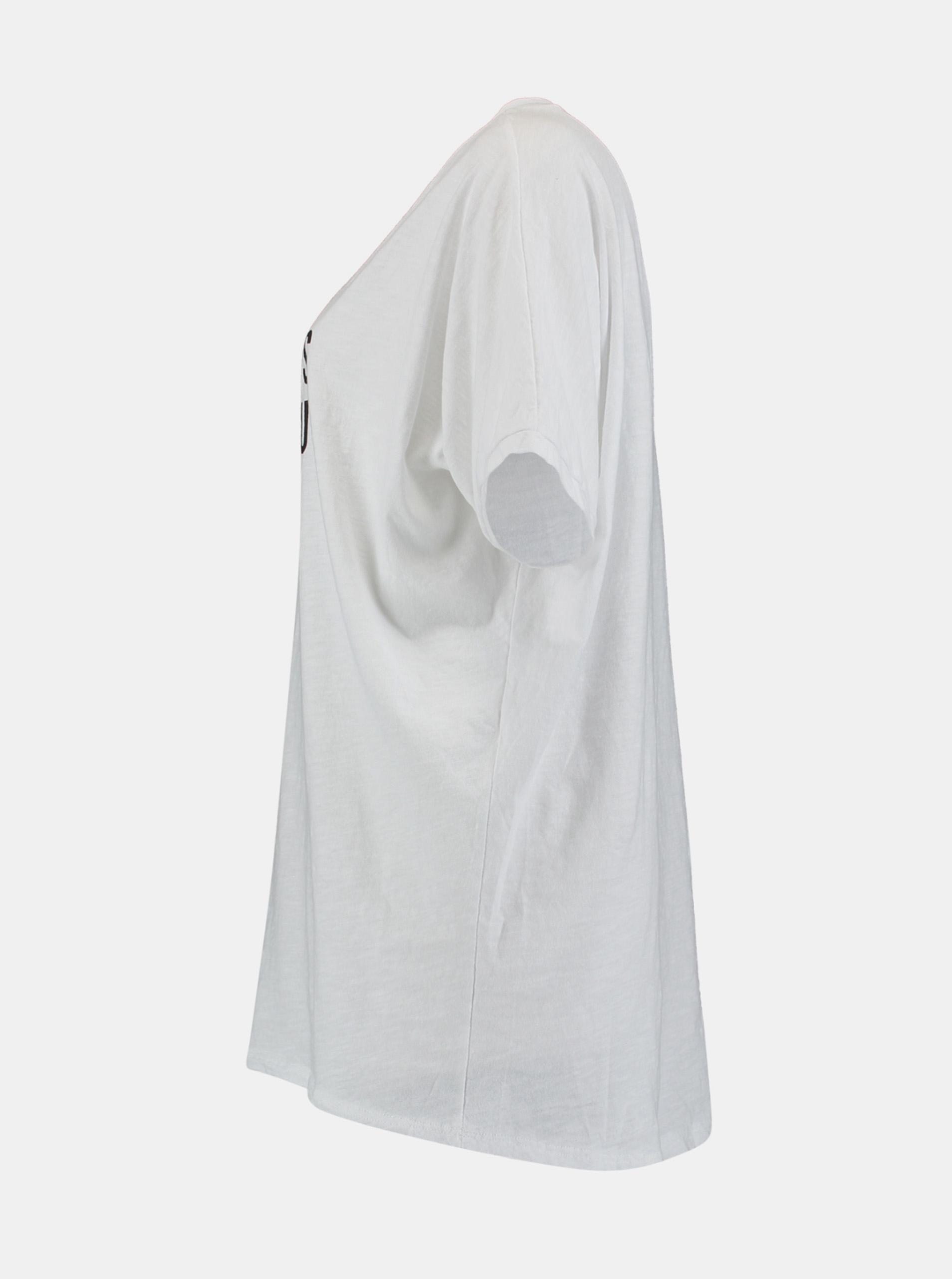 Hailys albe tricou cu imprimeu