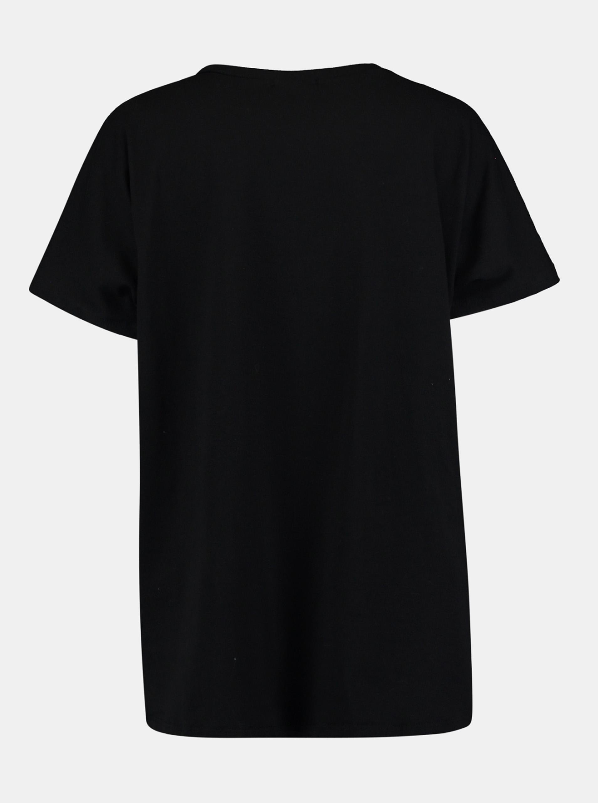 Hailys negre tricou cu imprimeu