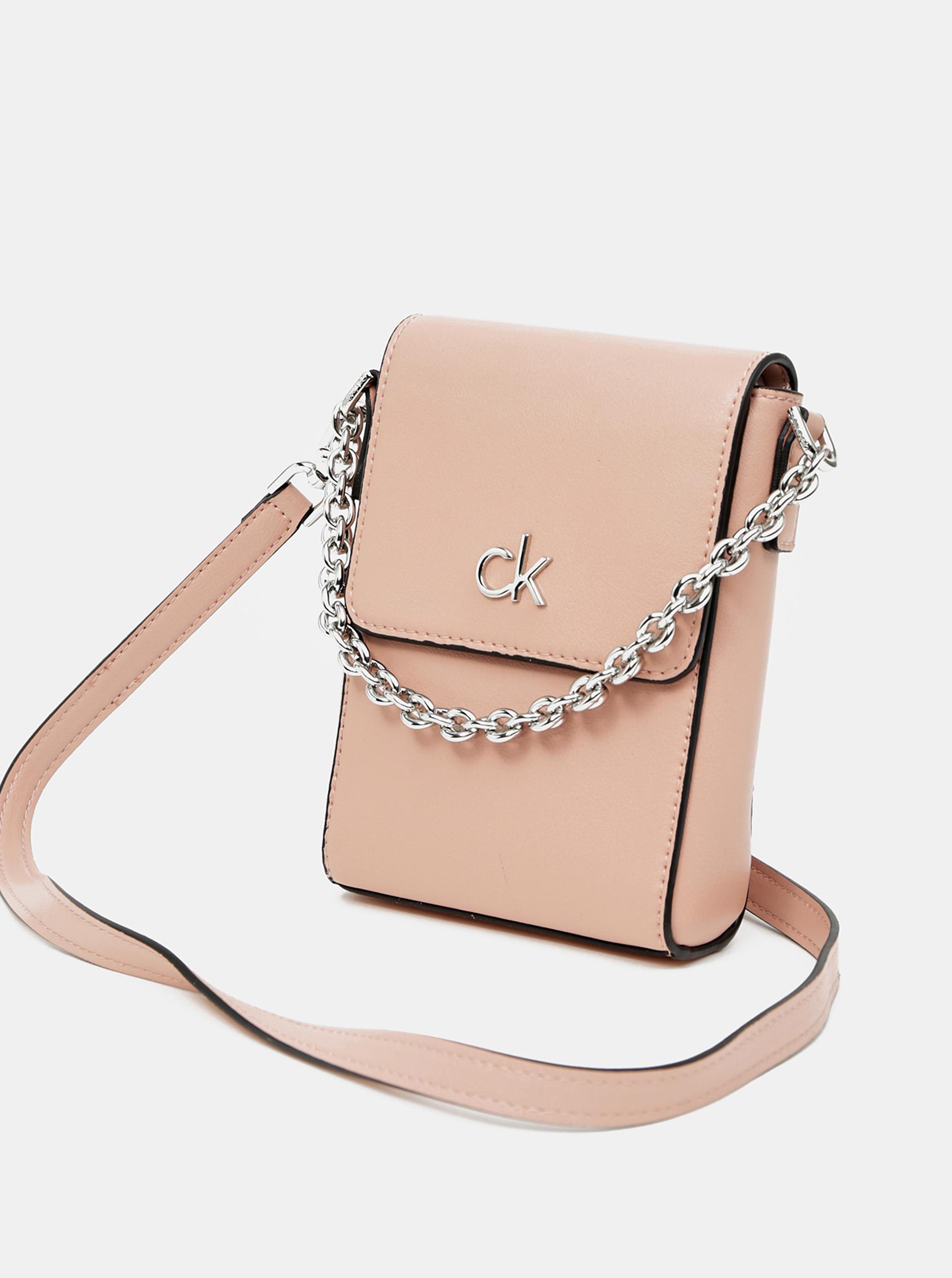 Calvin Klein roz crossbody mica geanta