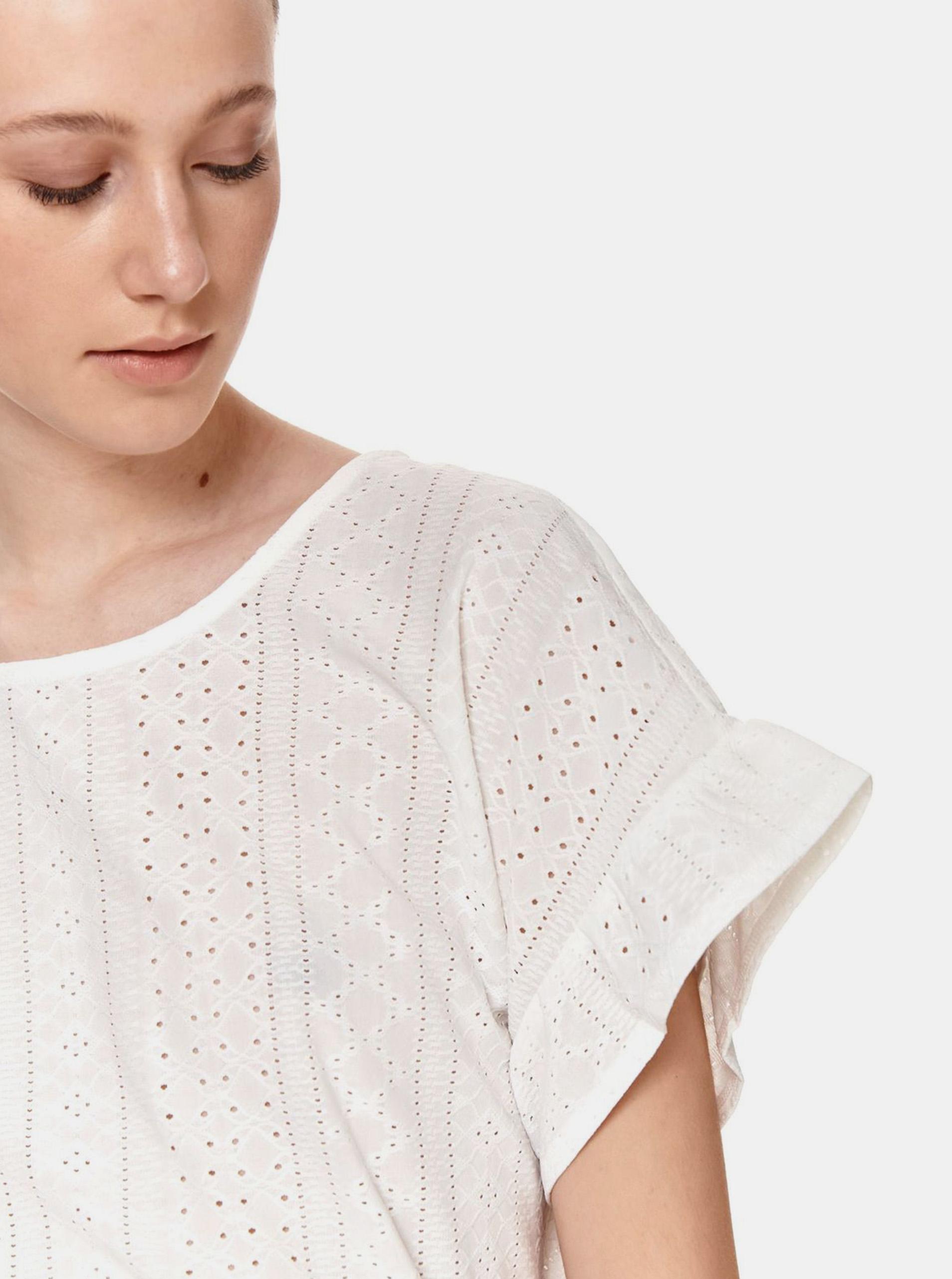 TOP SECRET albe bluză s madeirou