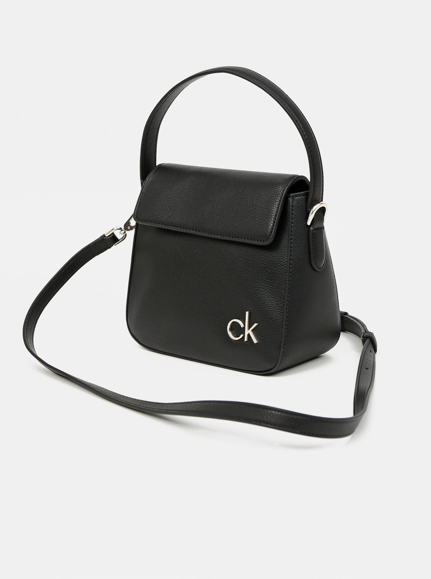 Calvin Klein negre geanta Hobo W/Flap