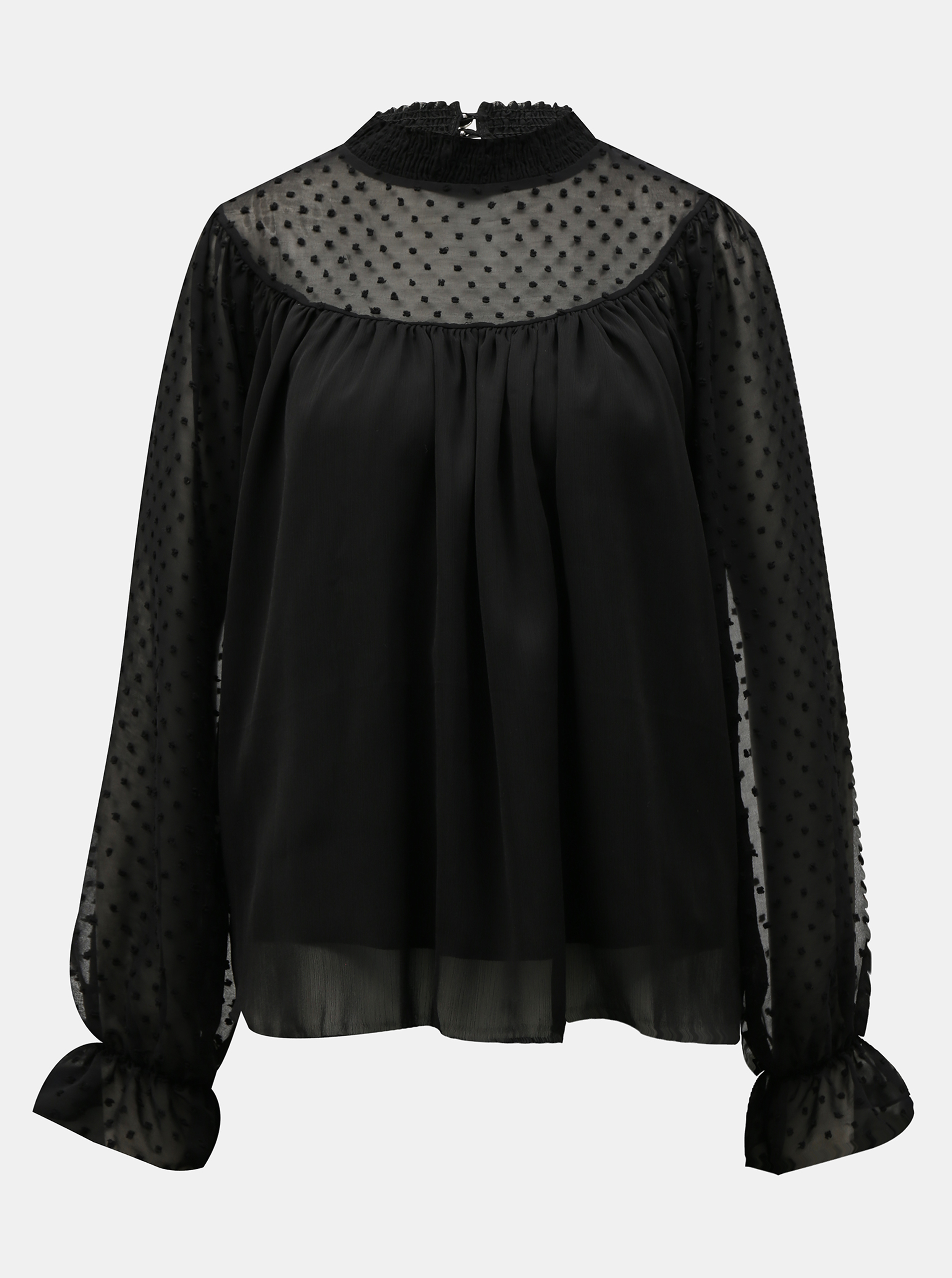 Hailys negre bluză se stojáčkem