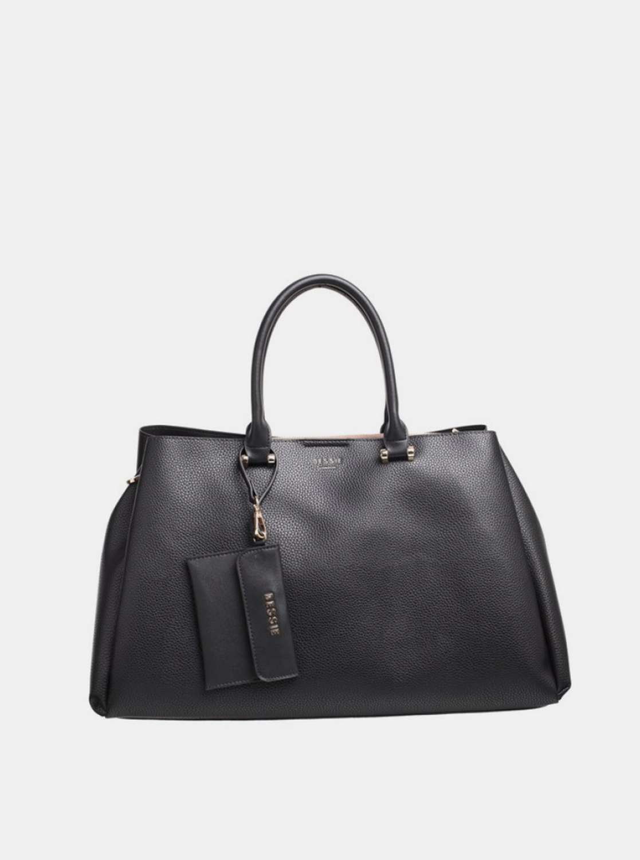 Bessie London negre geanta