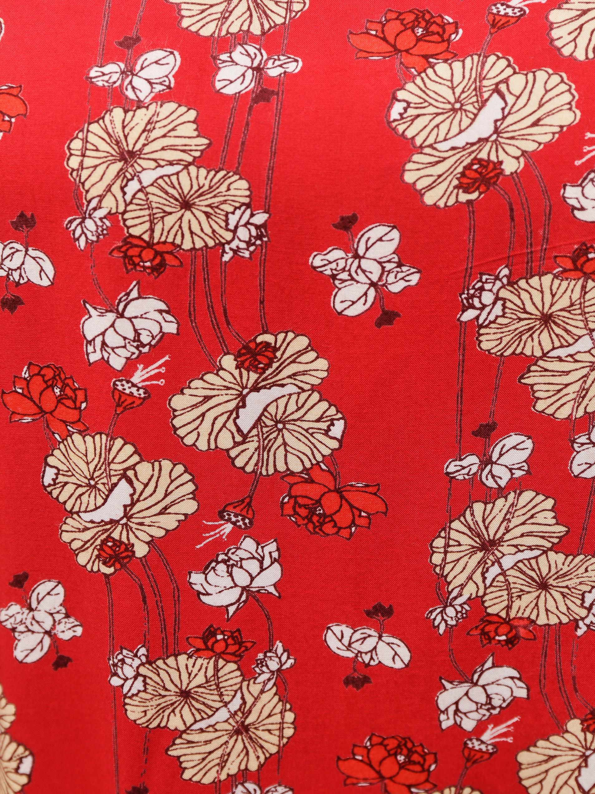 Tranquillo roșii tricou cu motiv floral