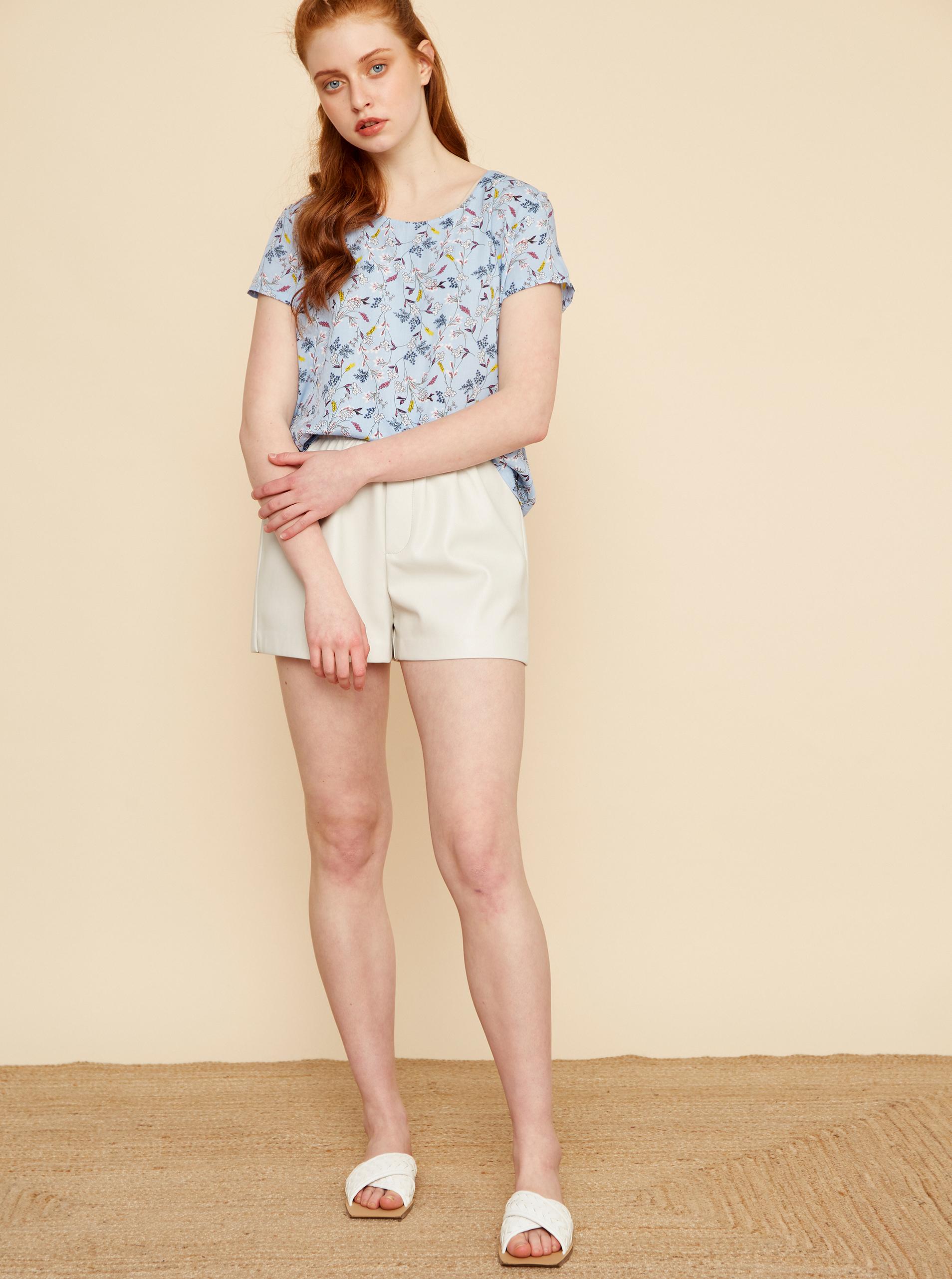 ZOOT albastre bluză Berenika cu motiv floral