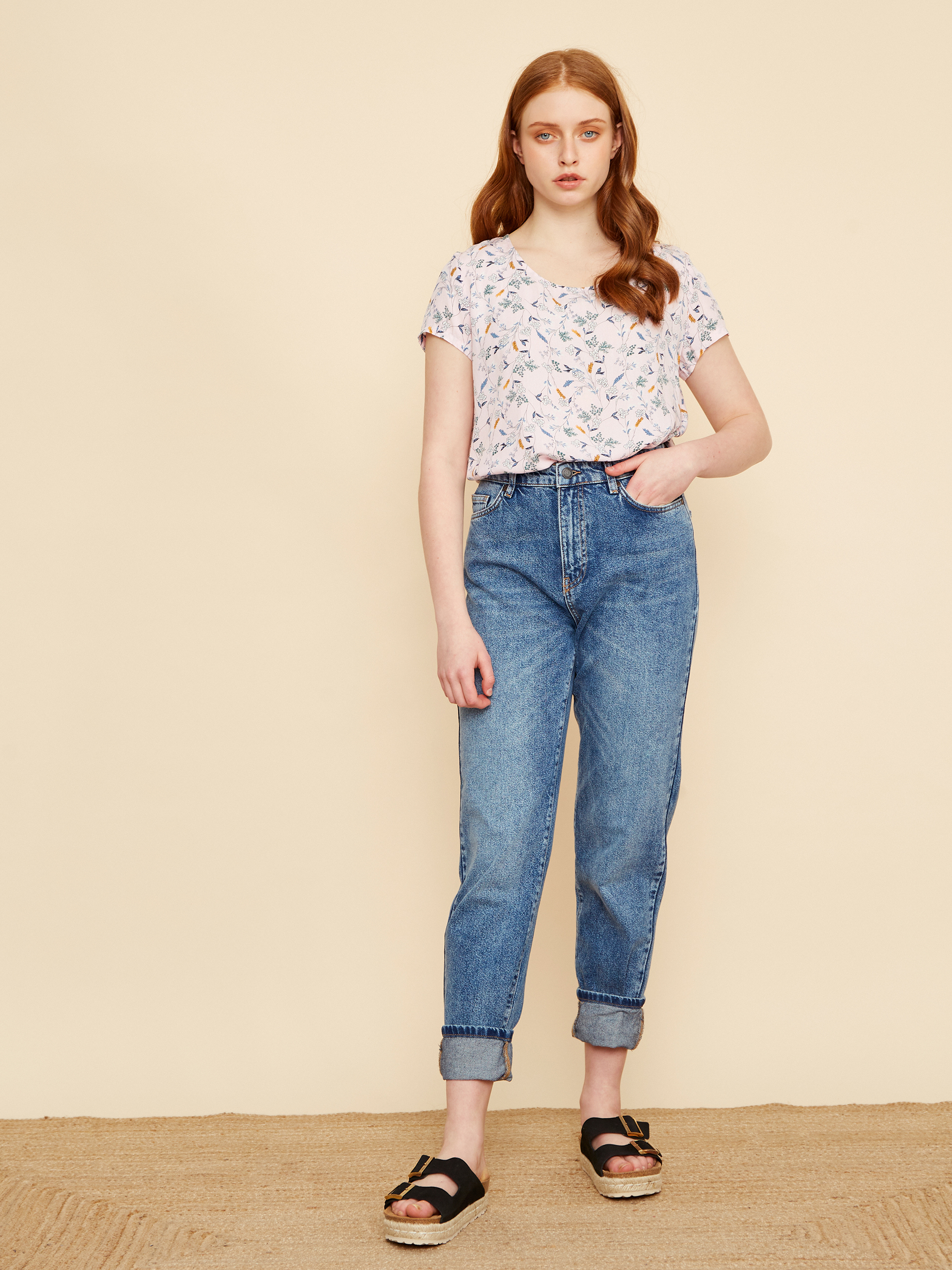ZOOT pudrate bluză Berenika cu motiv floral
