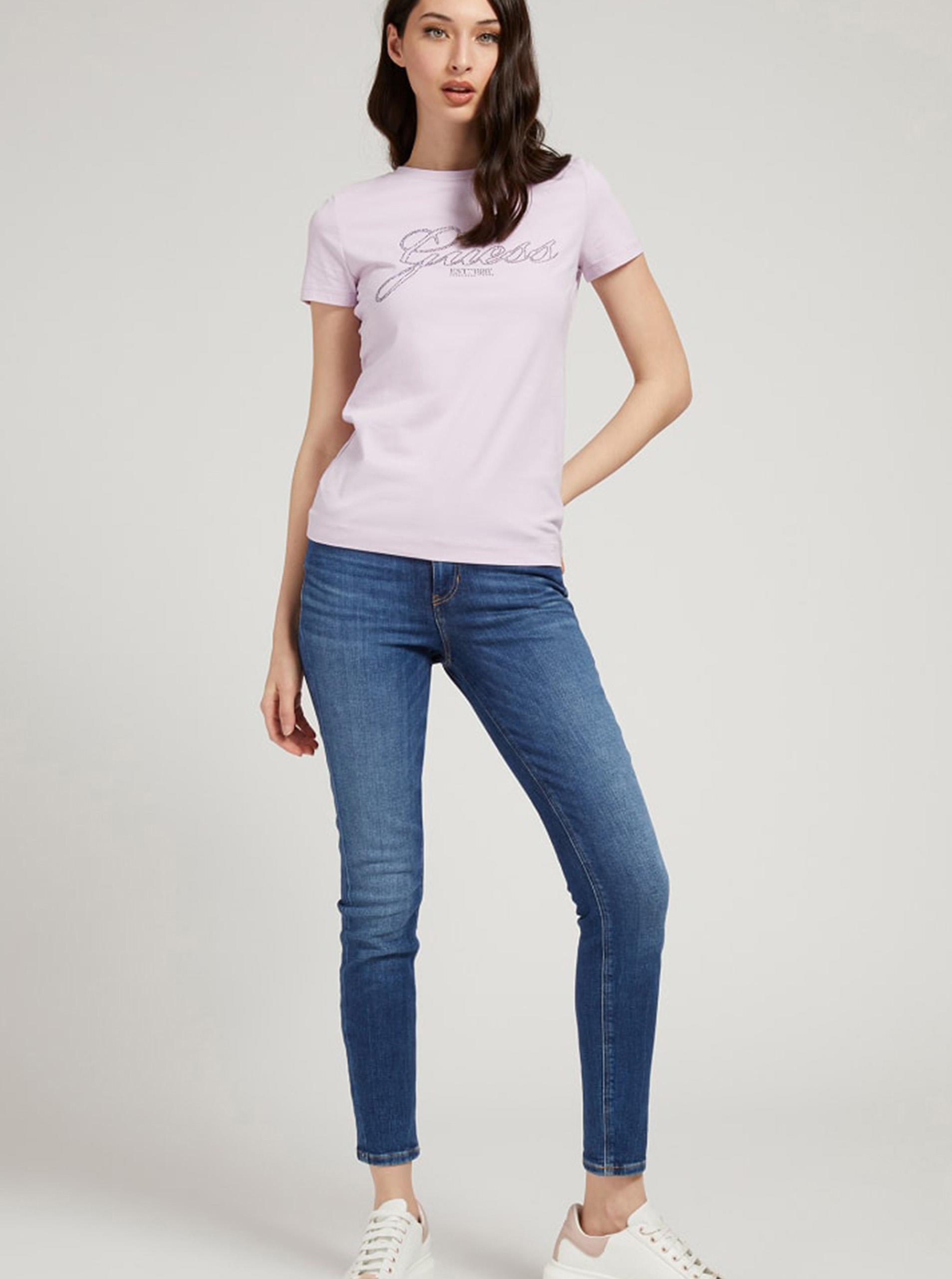 Guess violet tricou Selina