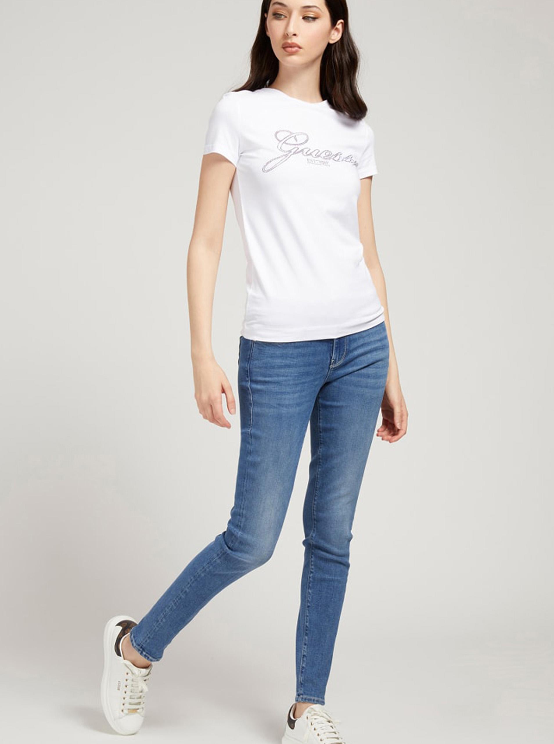 Guess albe tricou Selina