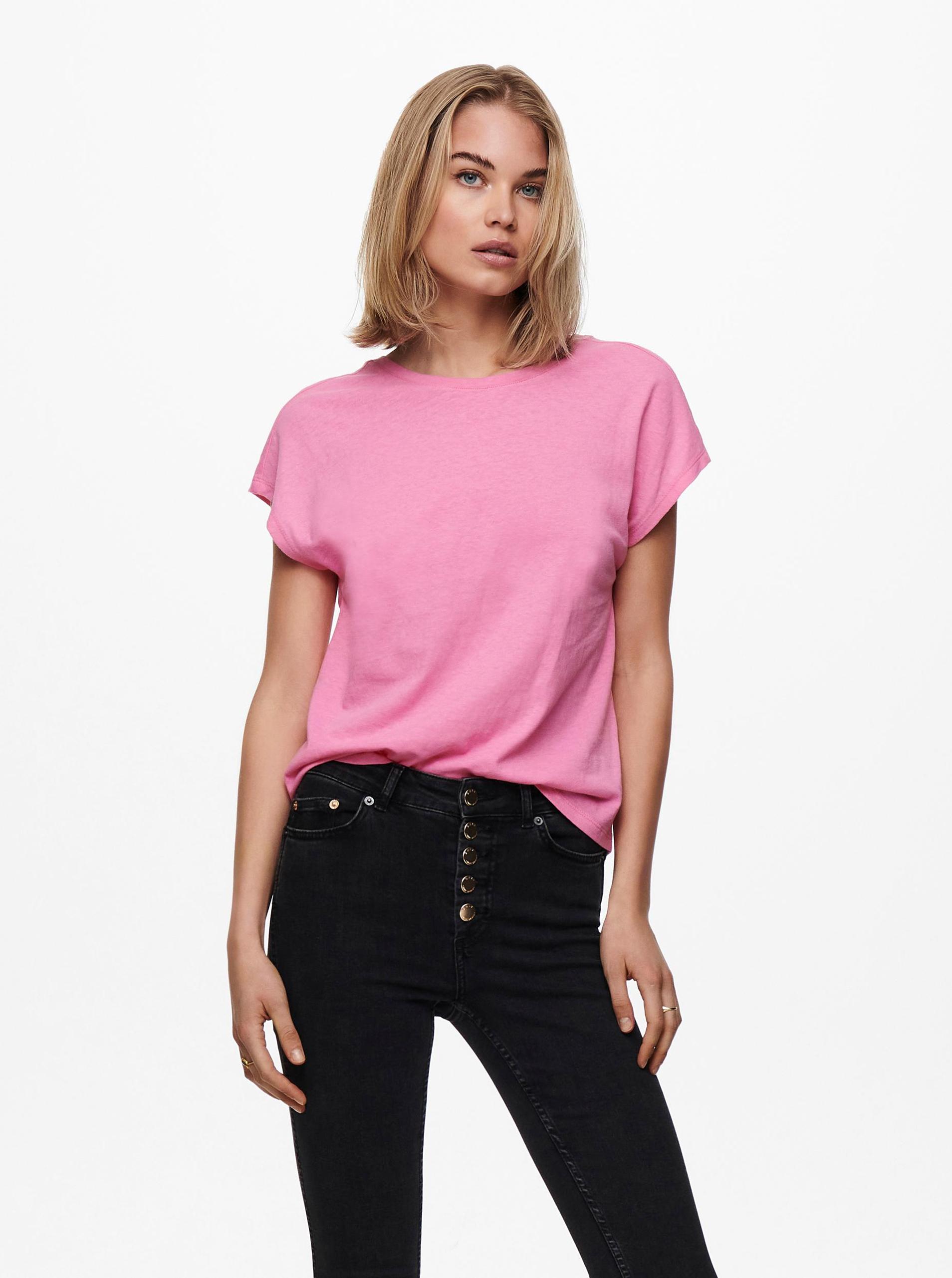 Only roz de dama tricou Ama