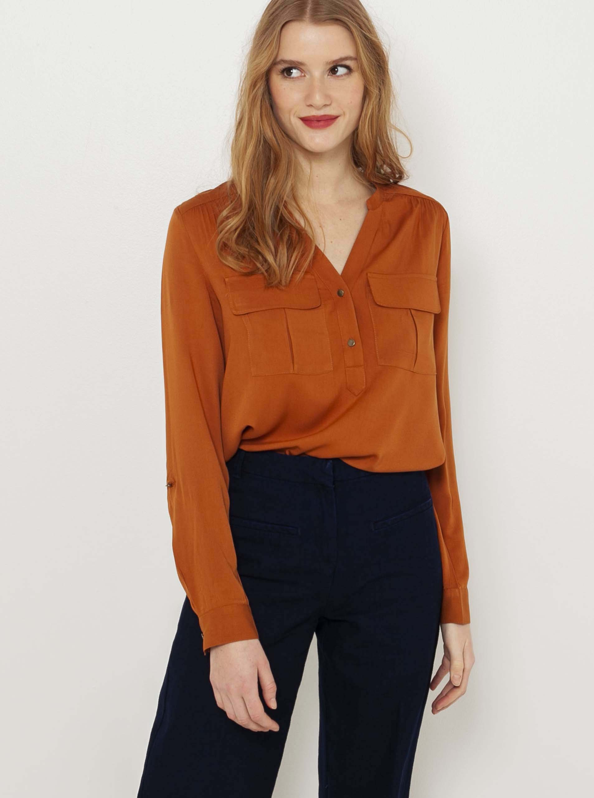 CAMAIEU maronii de dama bluză