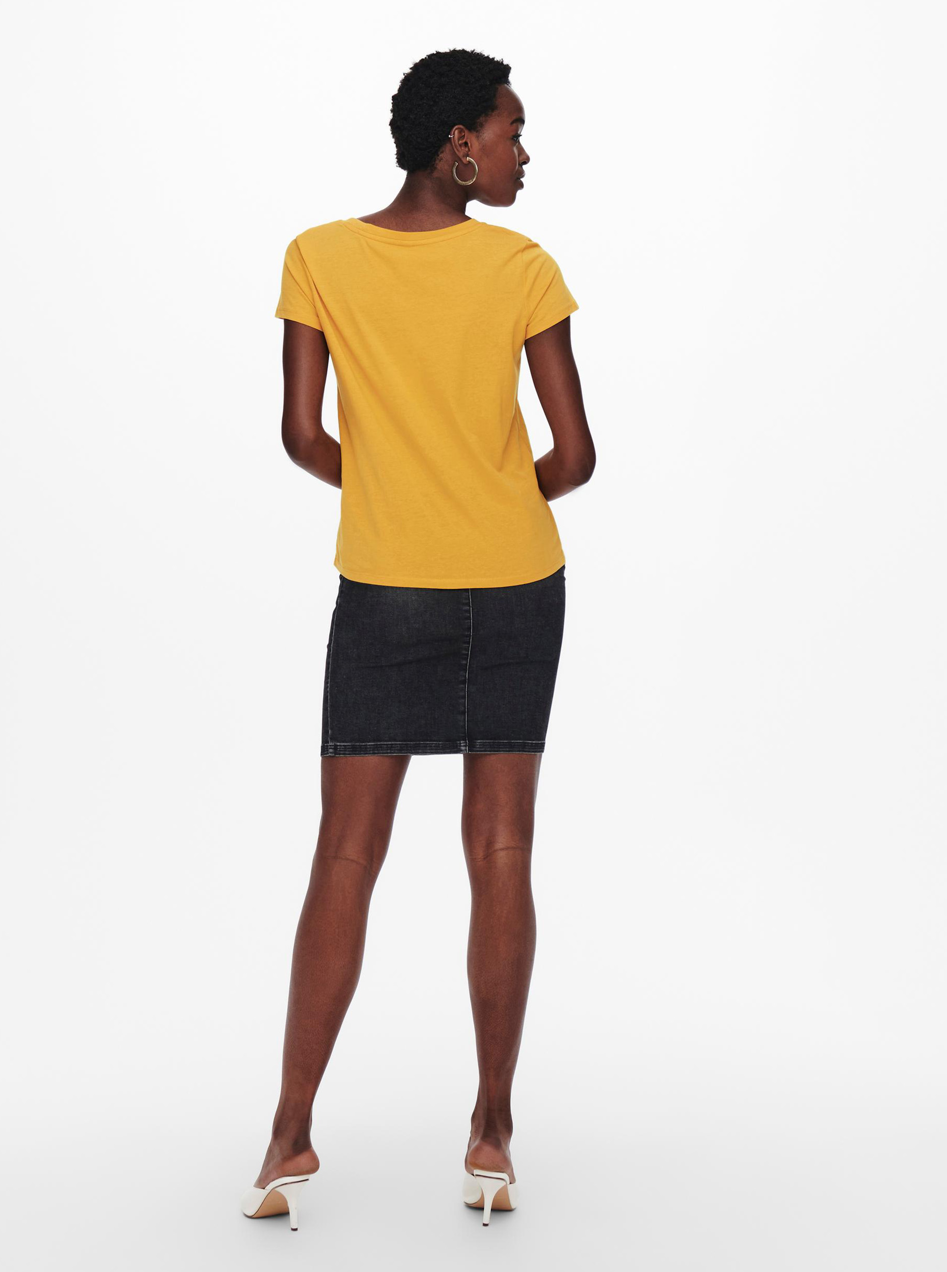 Jacqueline de Yong mustar tricou Dina