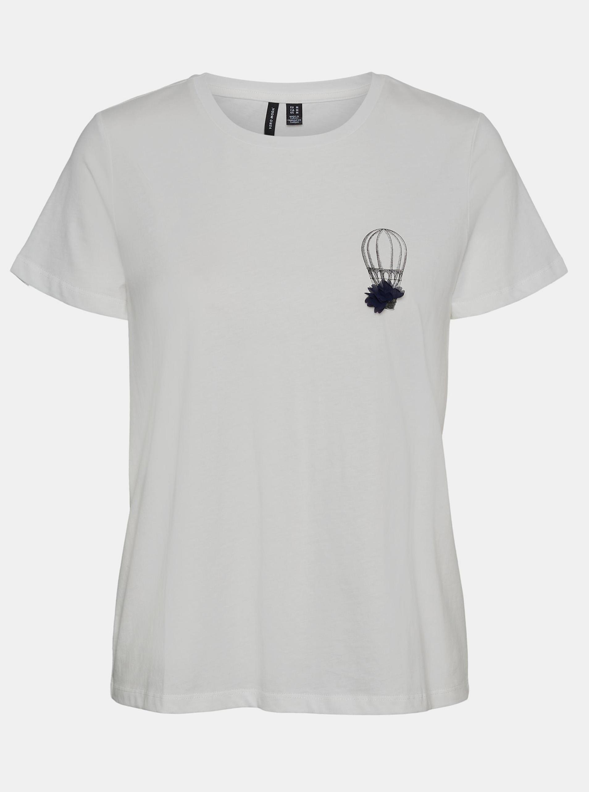 Vero Moda albe tricou Donna cu imprimeu