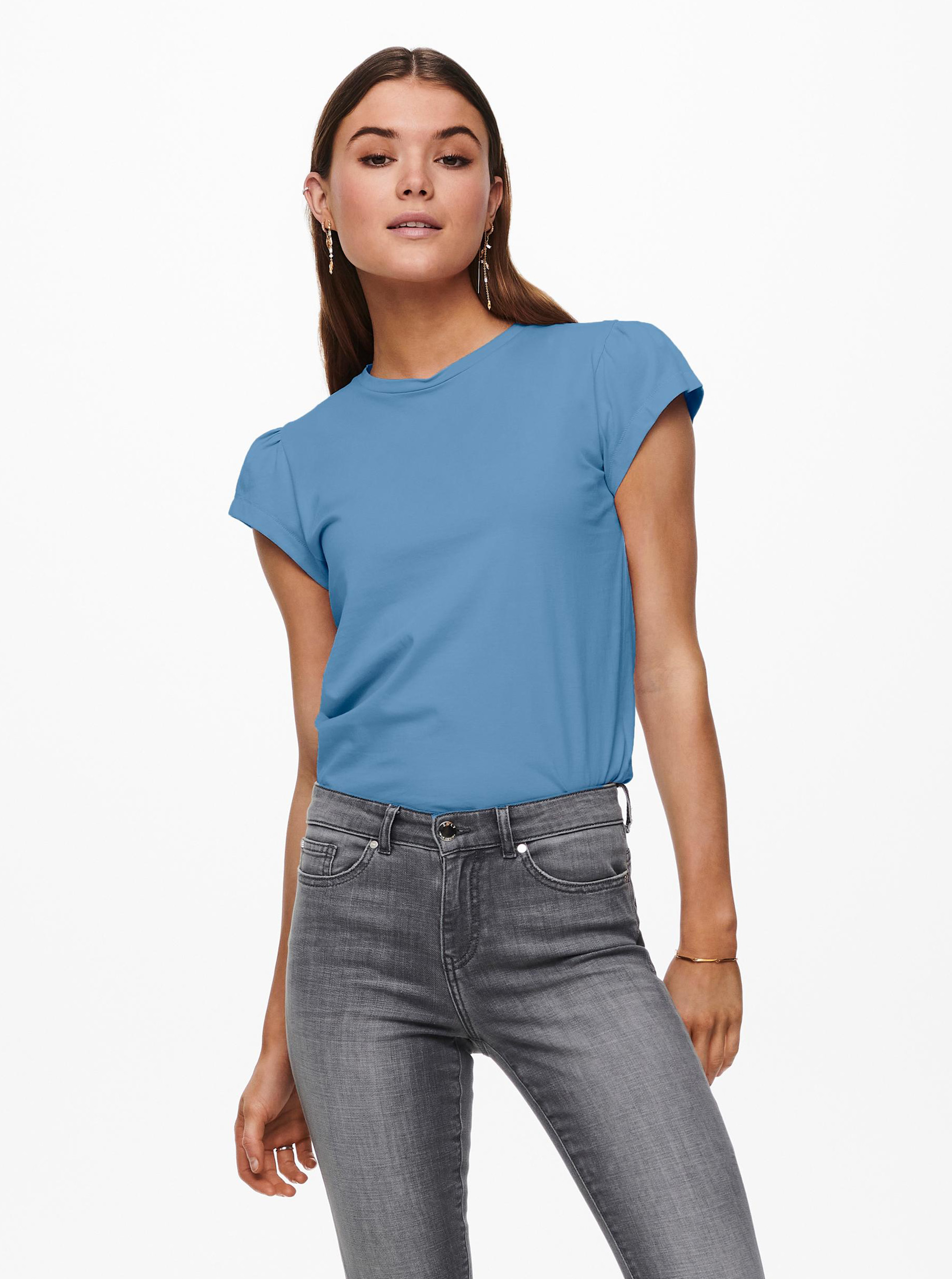Only albastre tricou New Nora