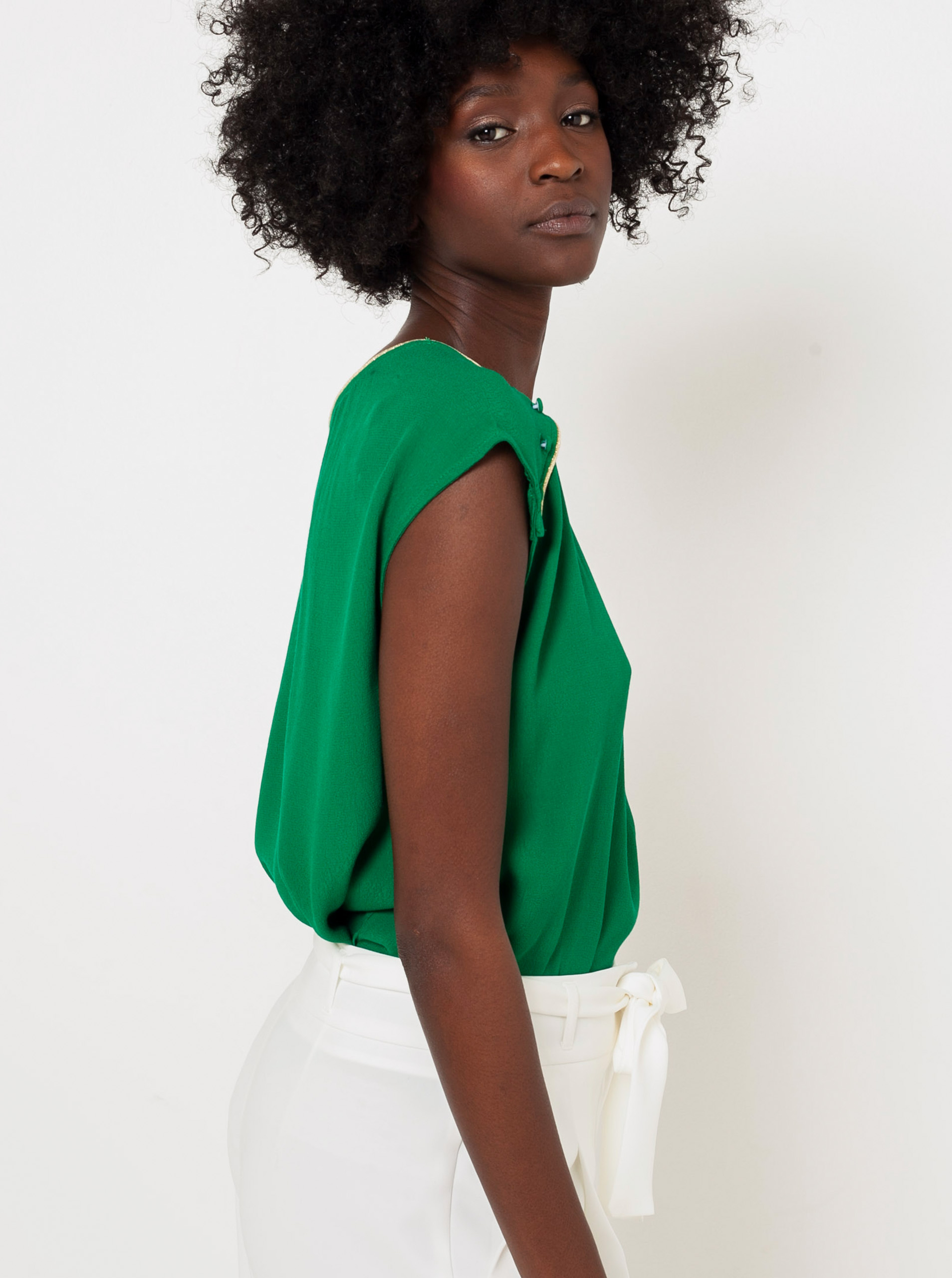 CAMAIEU verzi bluză