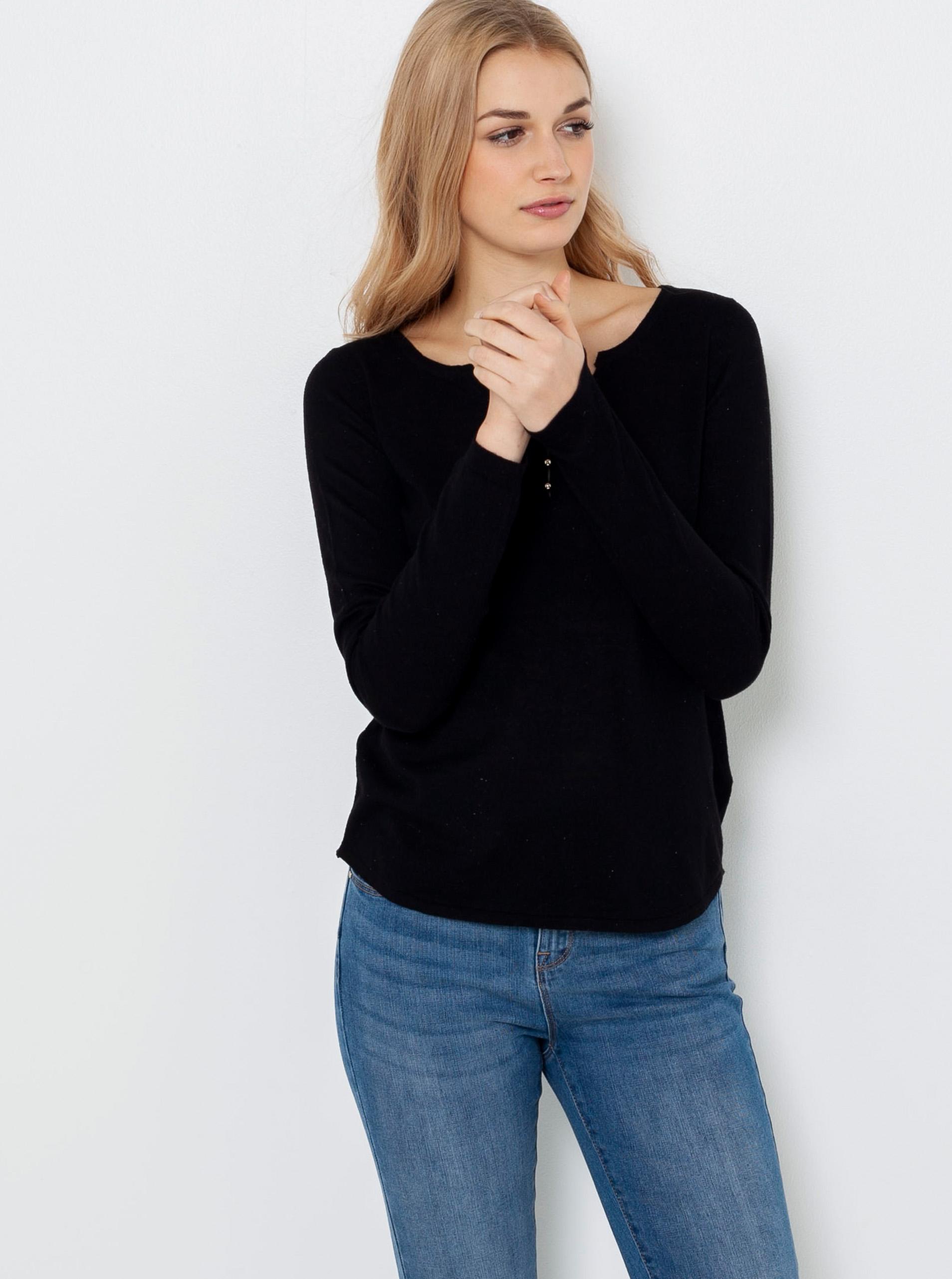CAMAIEU negre tricou