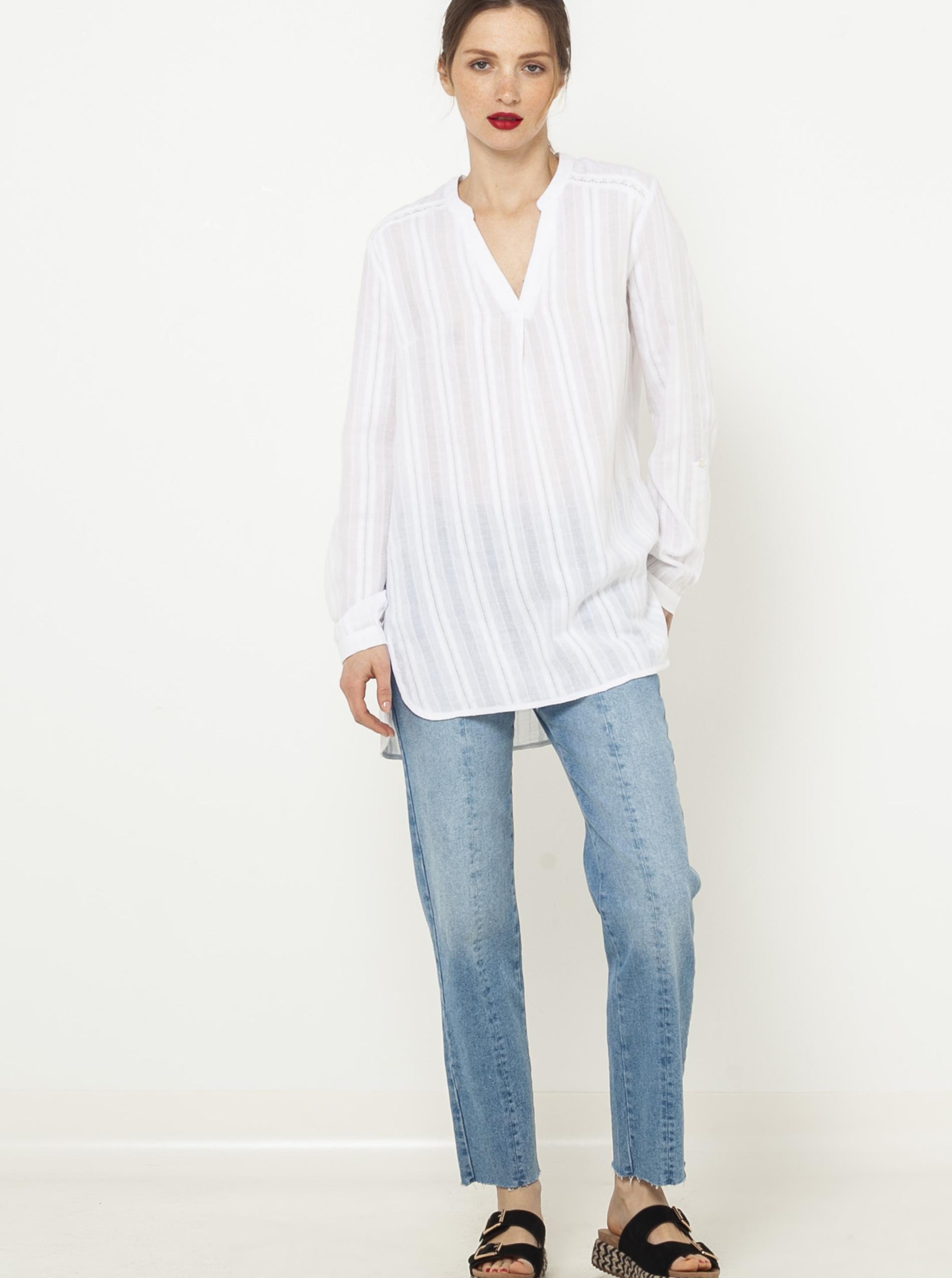 Bluză CAMAIEU cu dungi albe