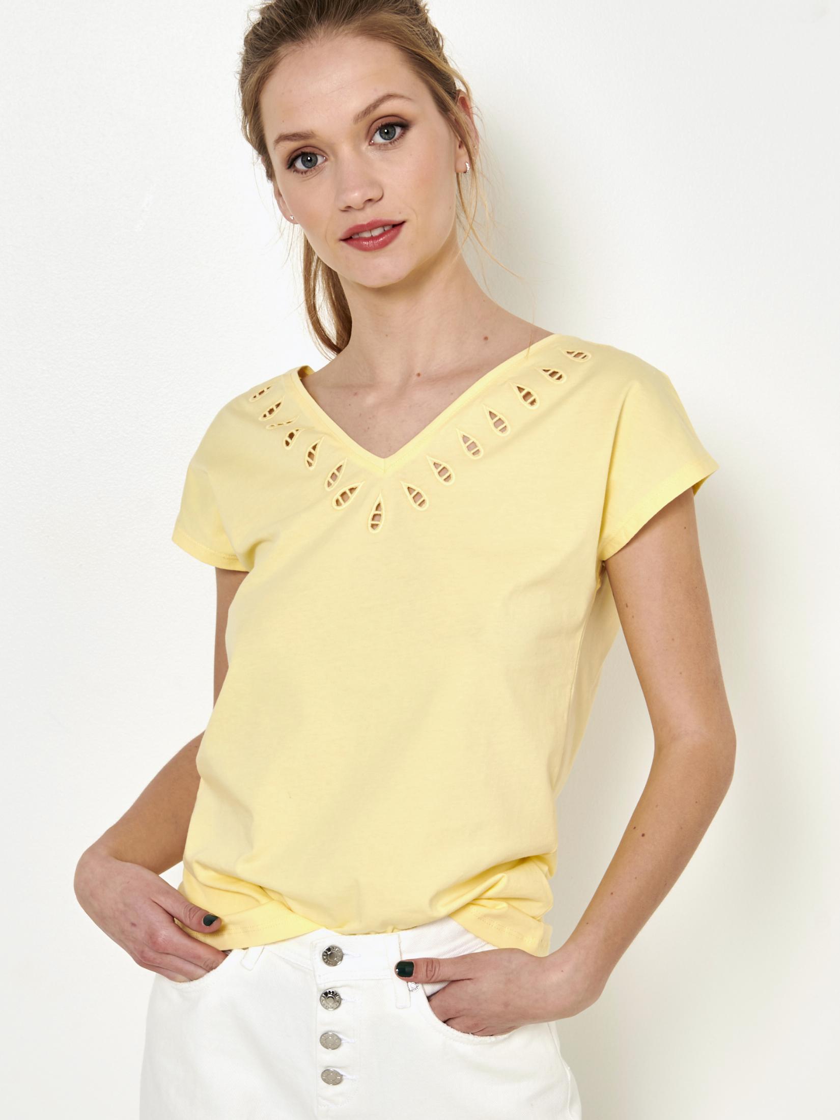 Topuri pentru femei CAMAIEU - galben