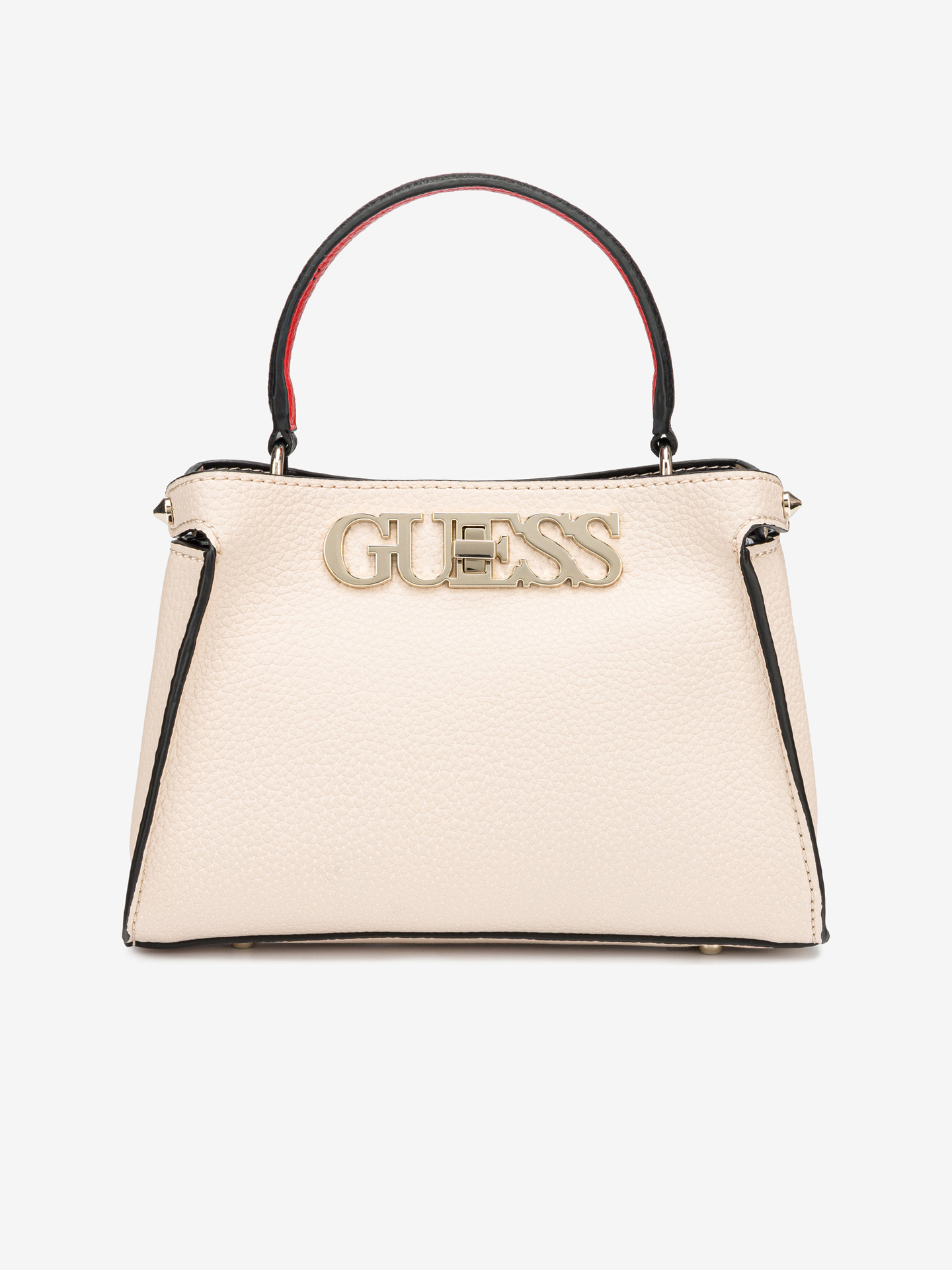Guess bej geanta Uptown Chic Small