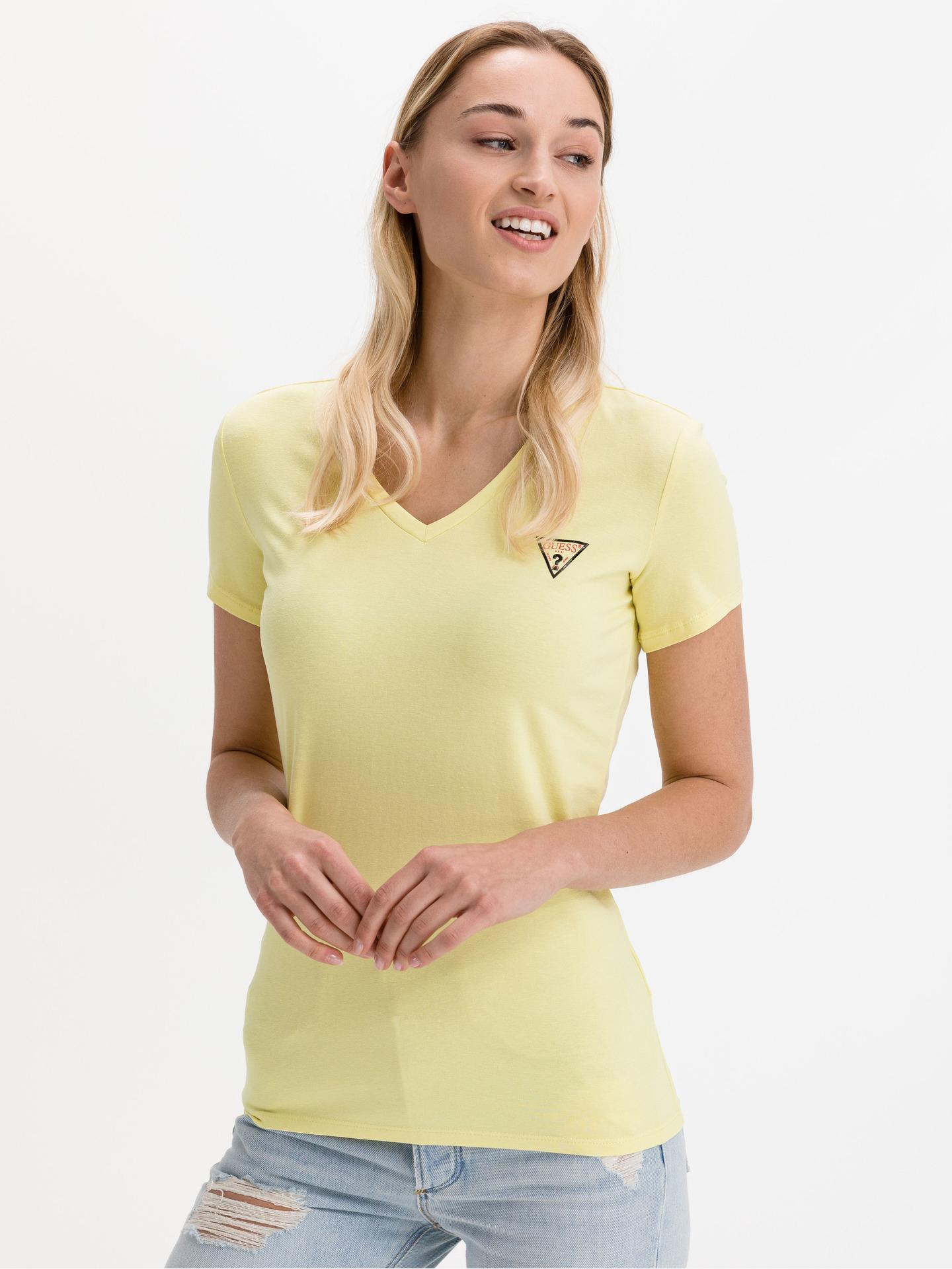 Guess galbene tricou Mini Triangle