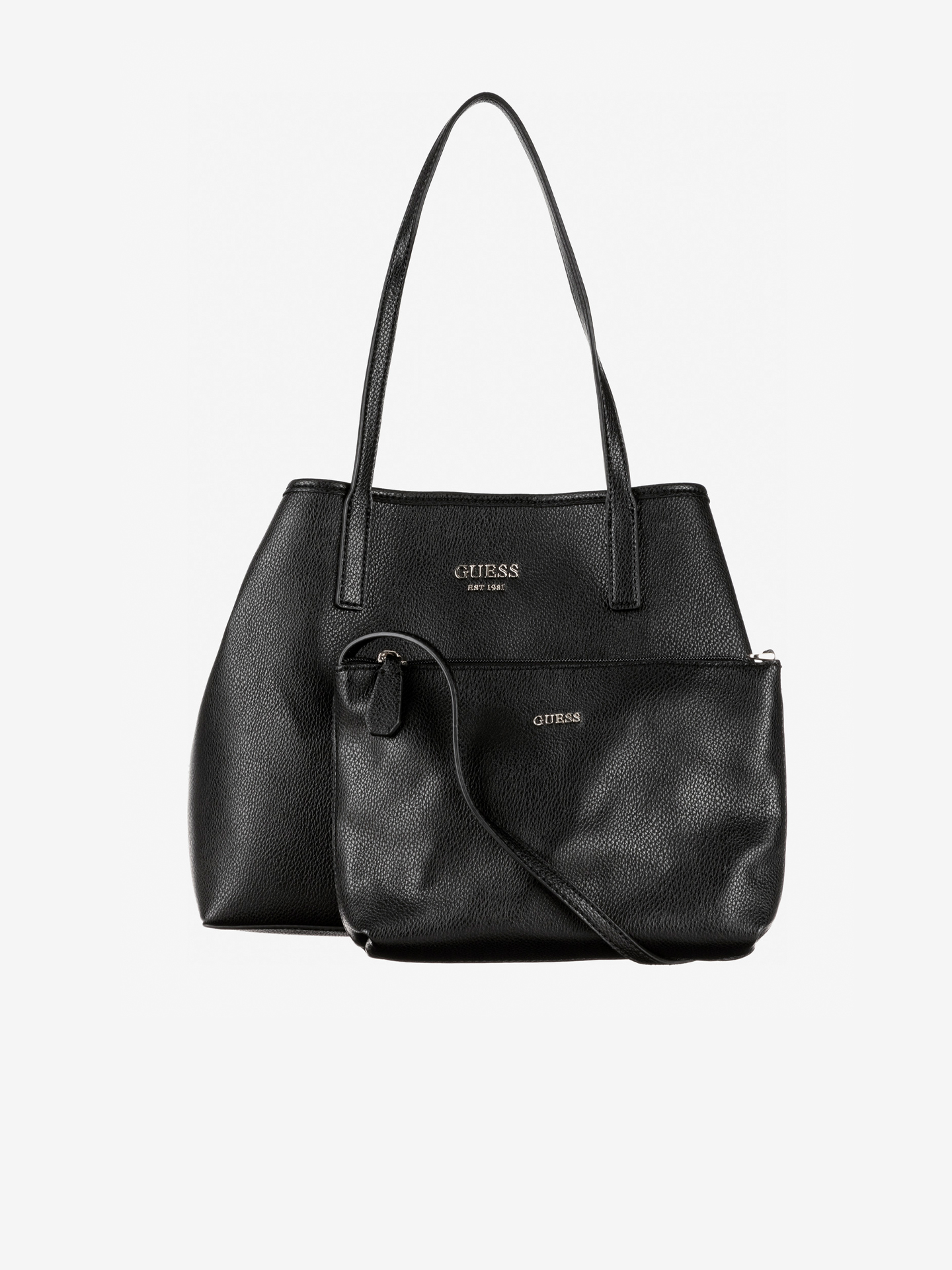 Guess negre geanta Vikky Medium
