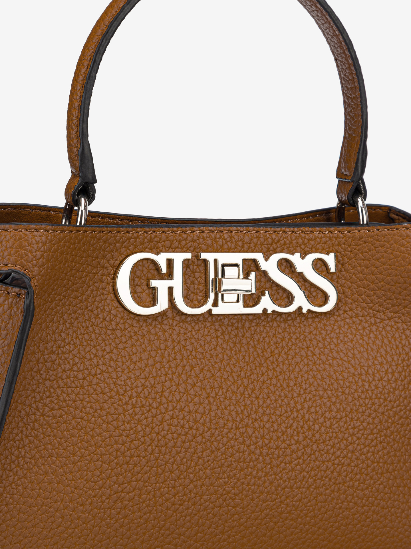 Guess maronii geanta Uptown Chic Small