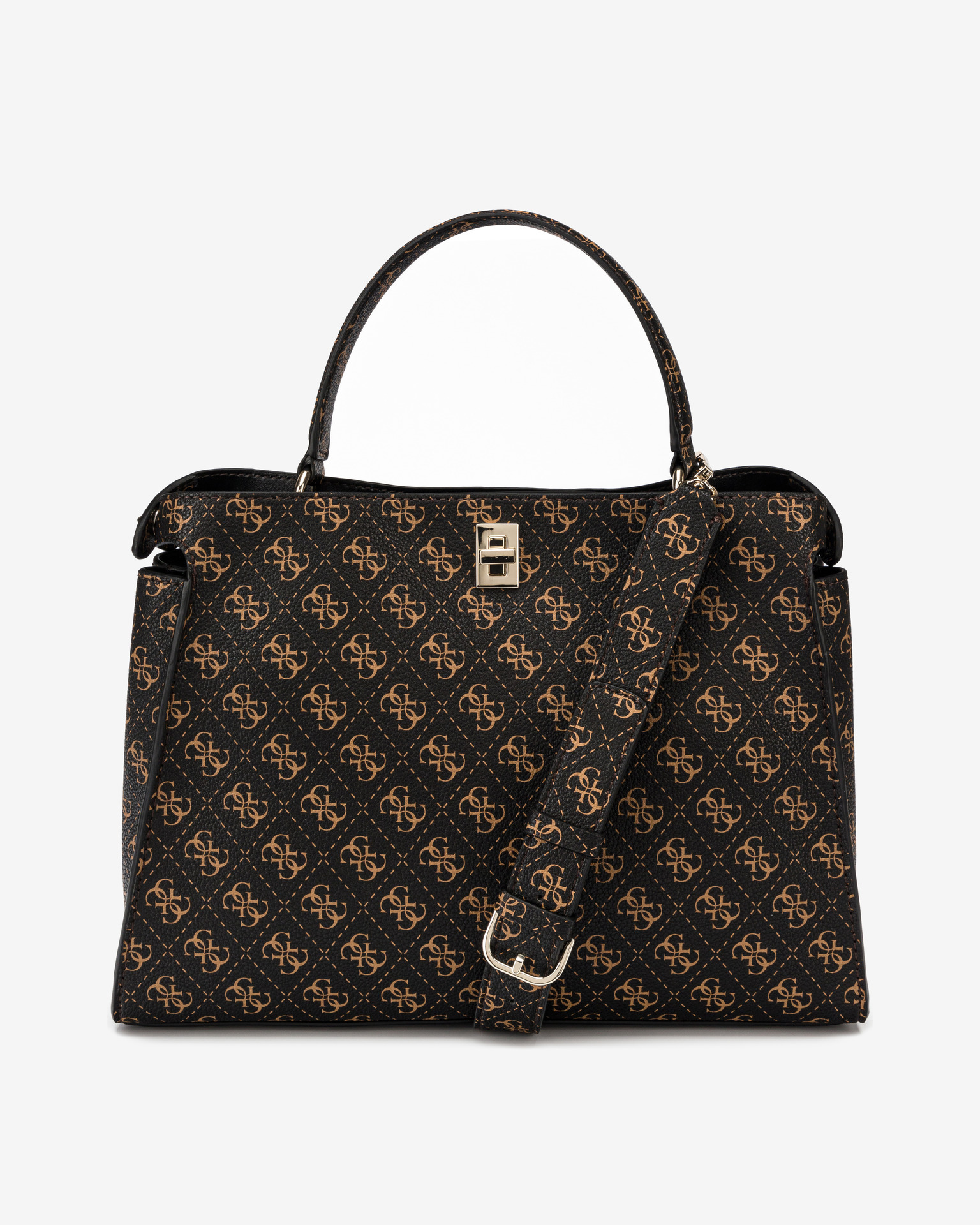 Guess maronii geanta Uptown Chic Large
