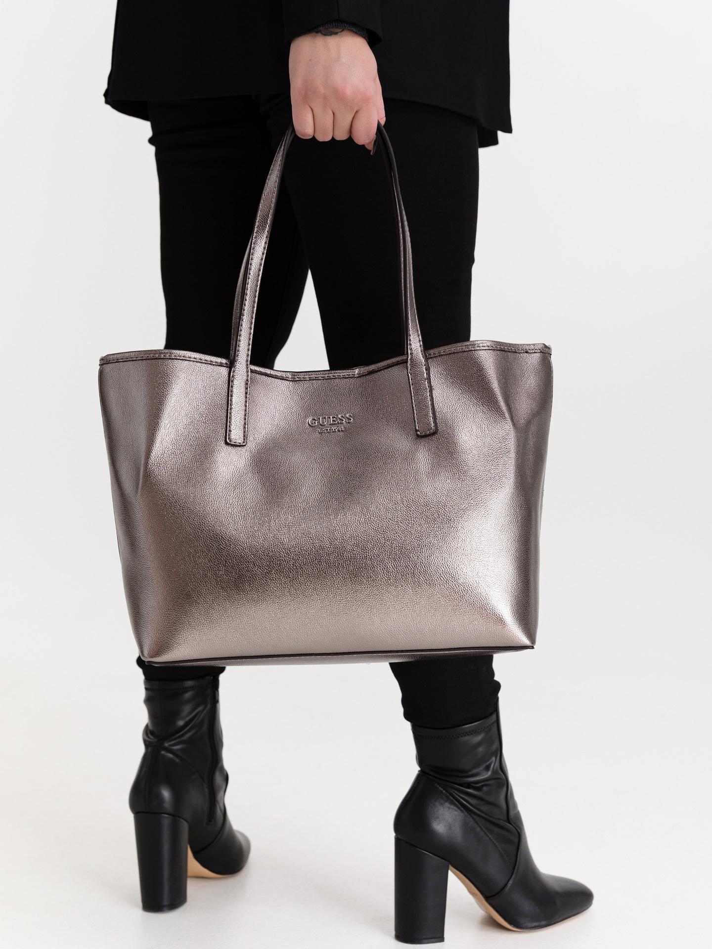 Guess argintii geanta Vikky
