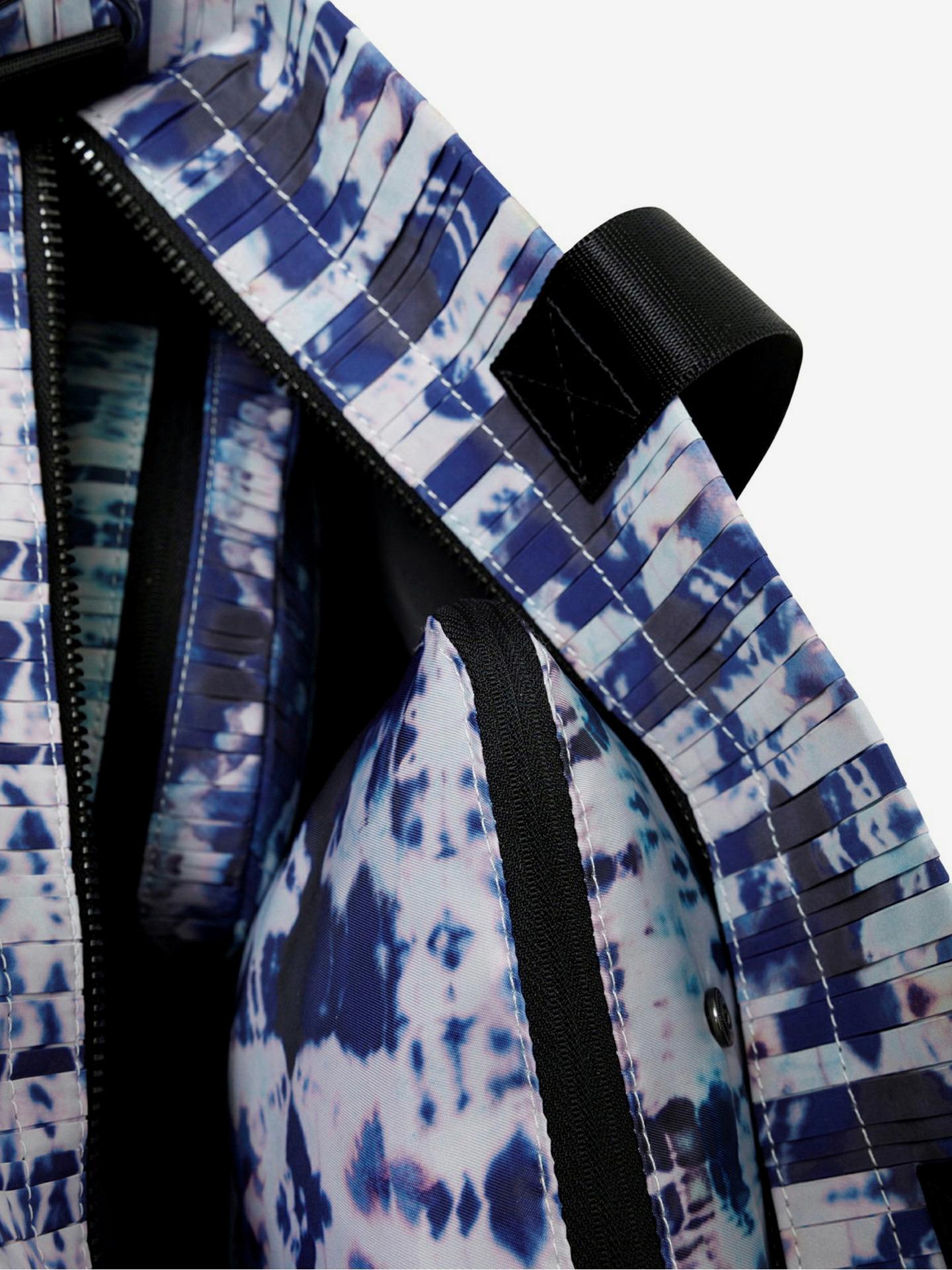 Desigual albastre geanta Pleats