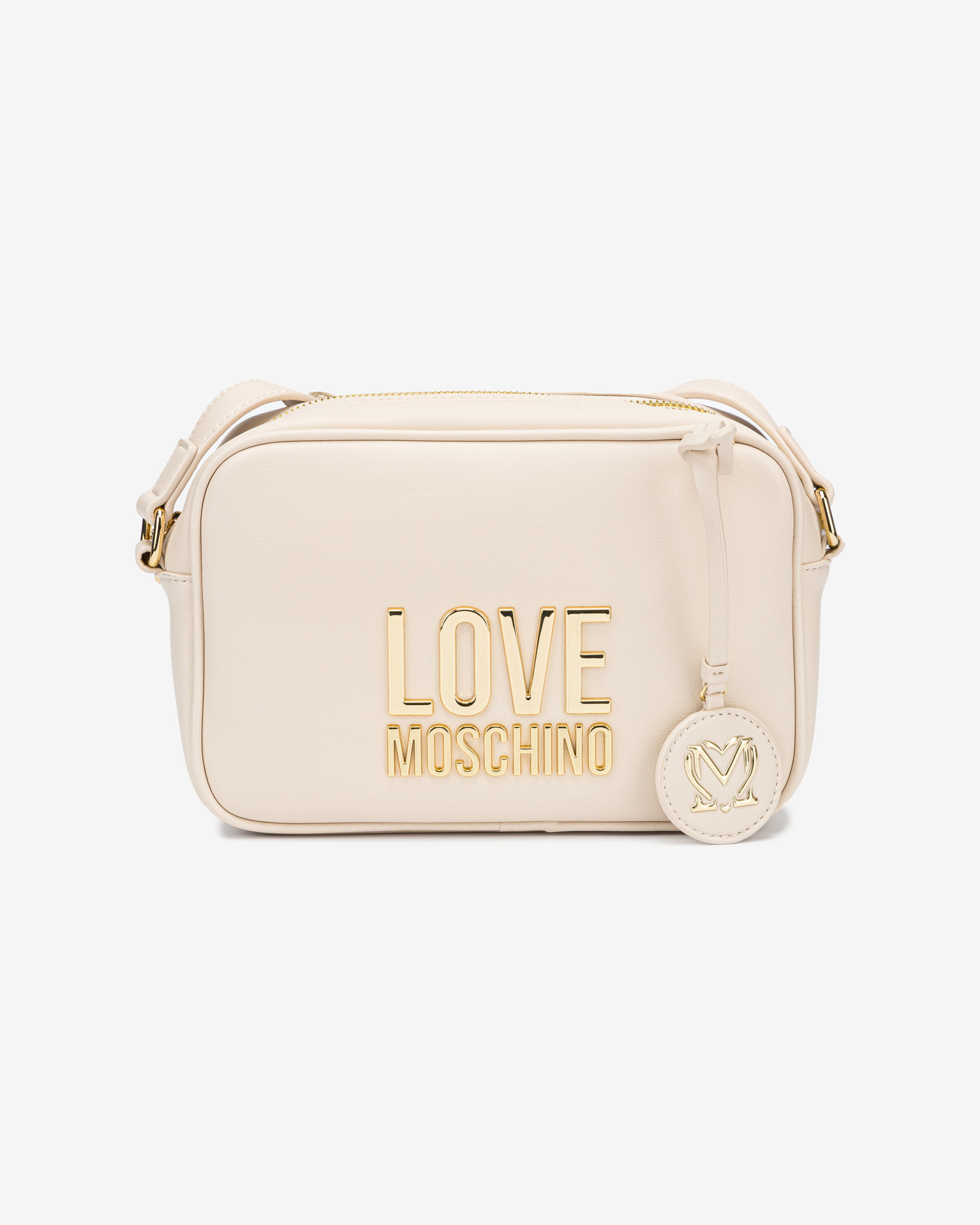 Love Moschino albe crossbody geanta