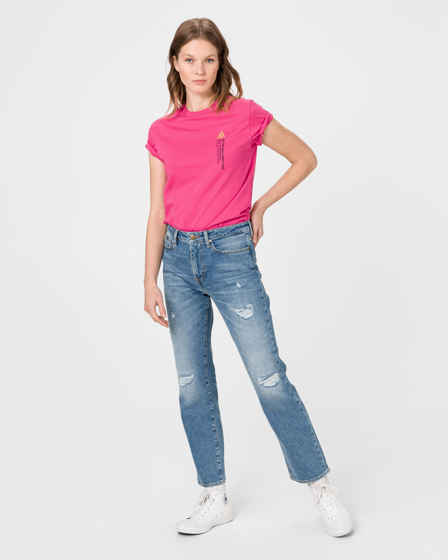 Vans roz tricou 66 Supply