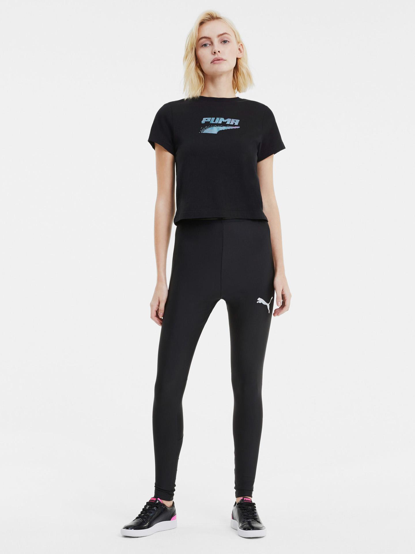 Puma negre de dama tricou Evide Graphic