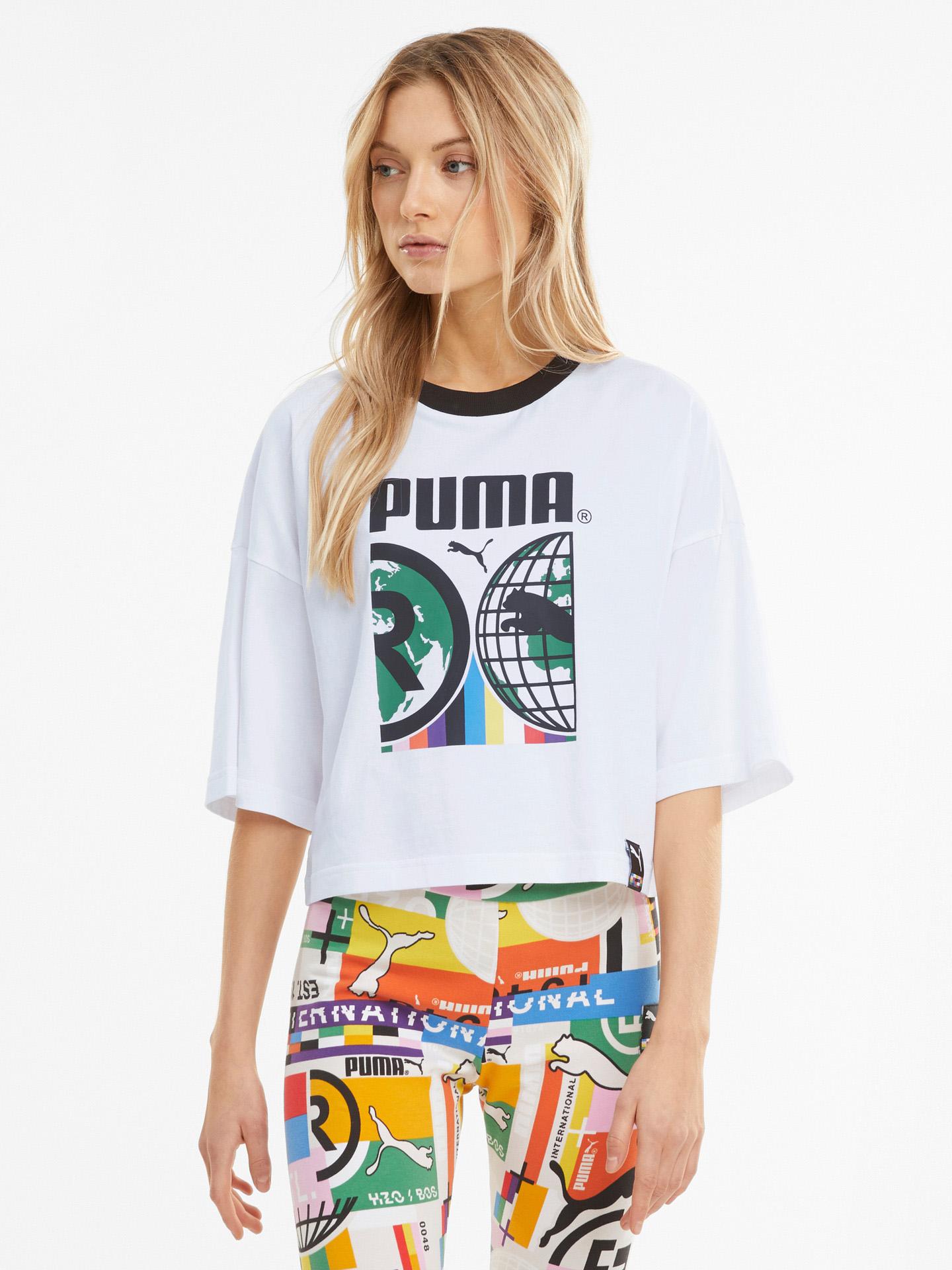 Puma albe de dama tricou PI Graphic