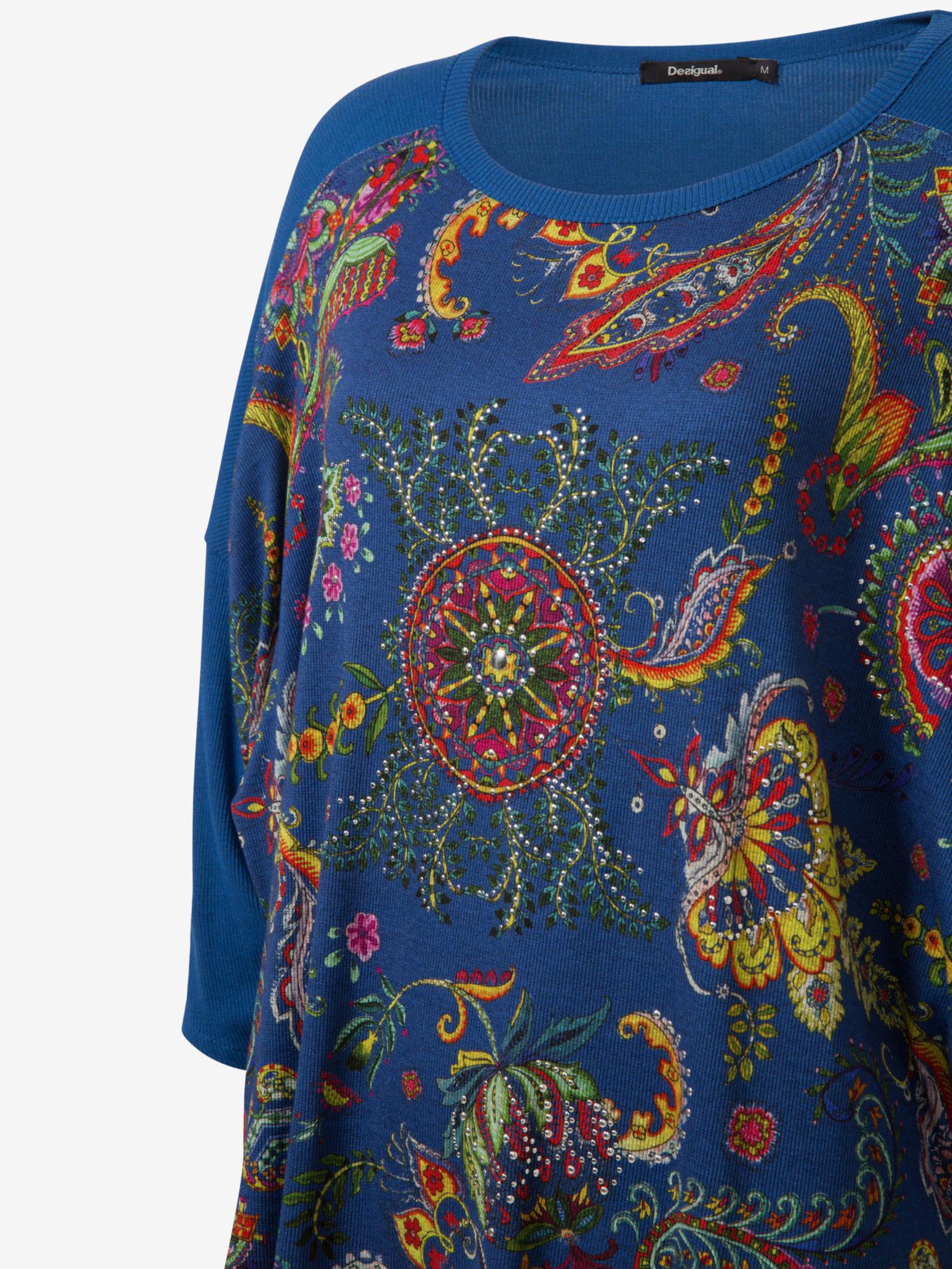 Desigual albastre de dama tricou Zita