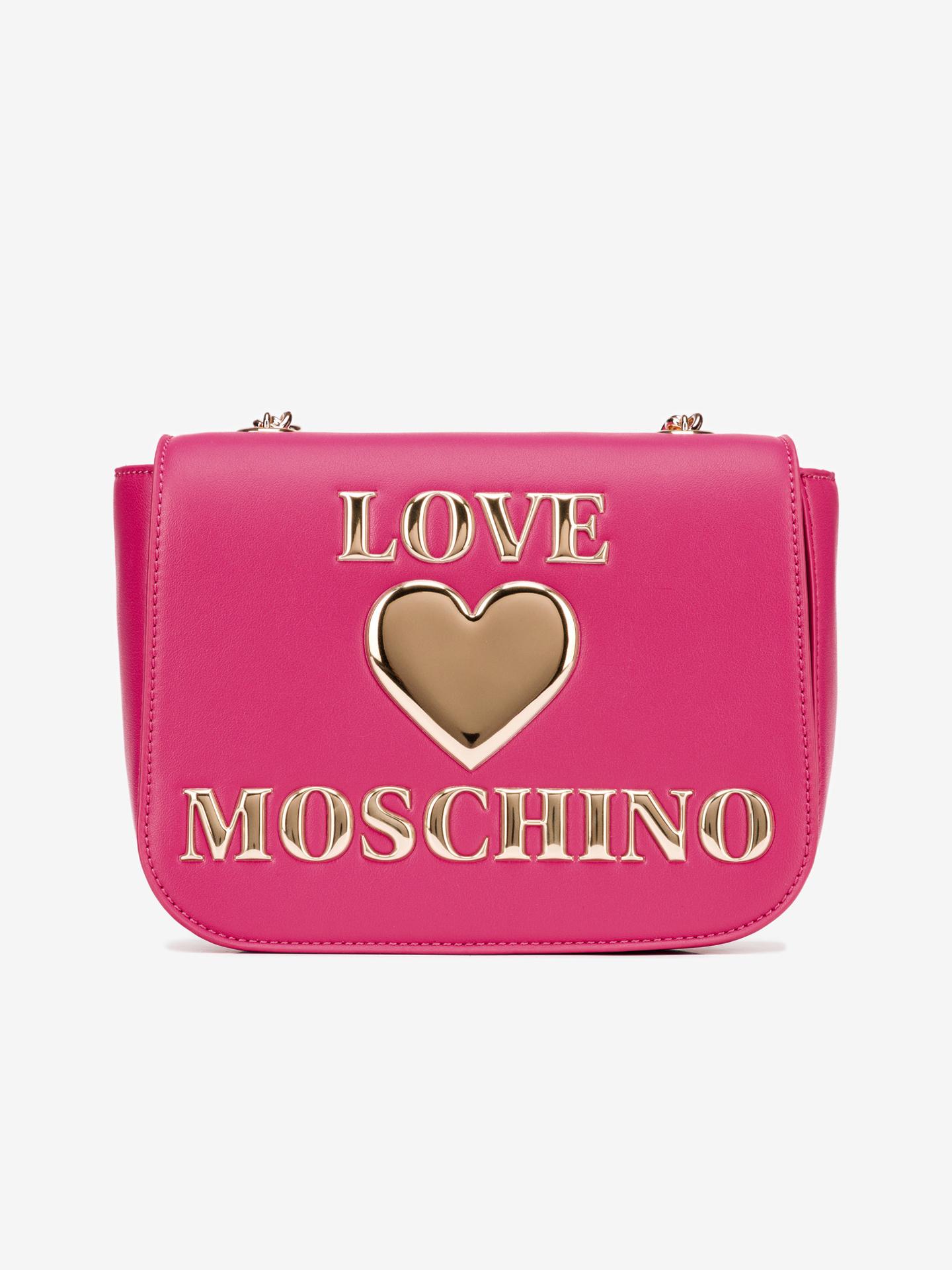 Love Moschino roz crossbody geanta