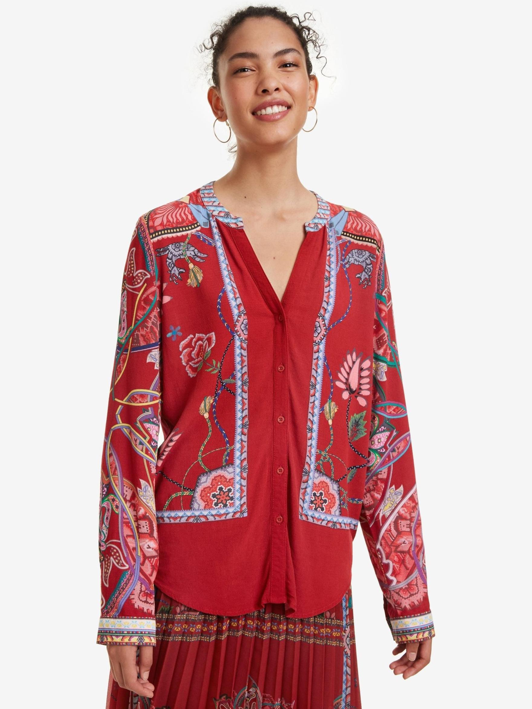 Desigual roșii bluză Silvina