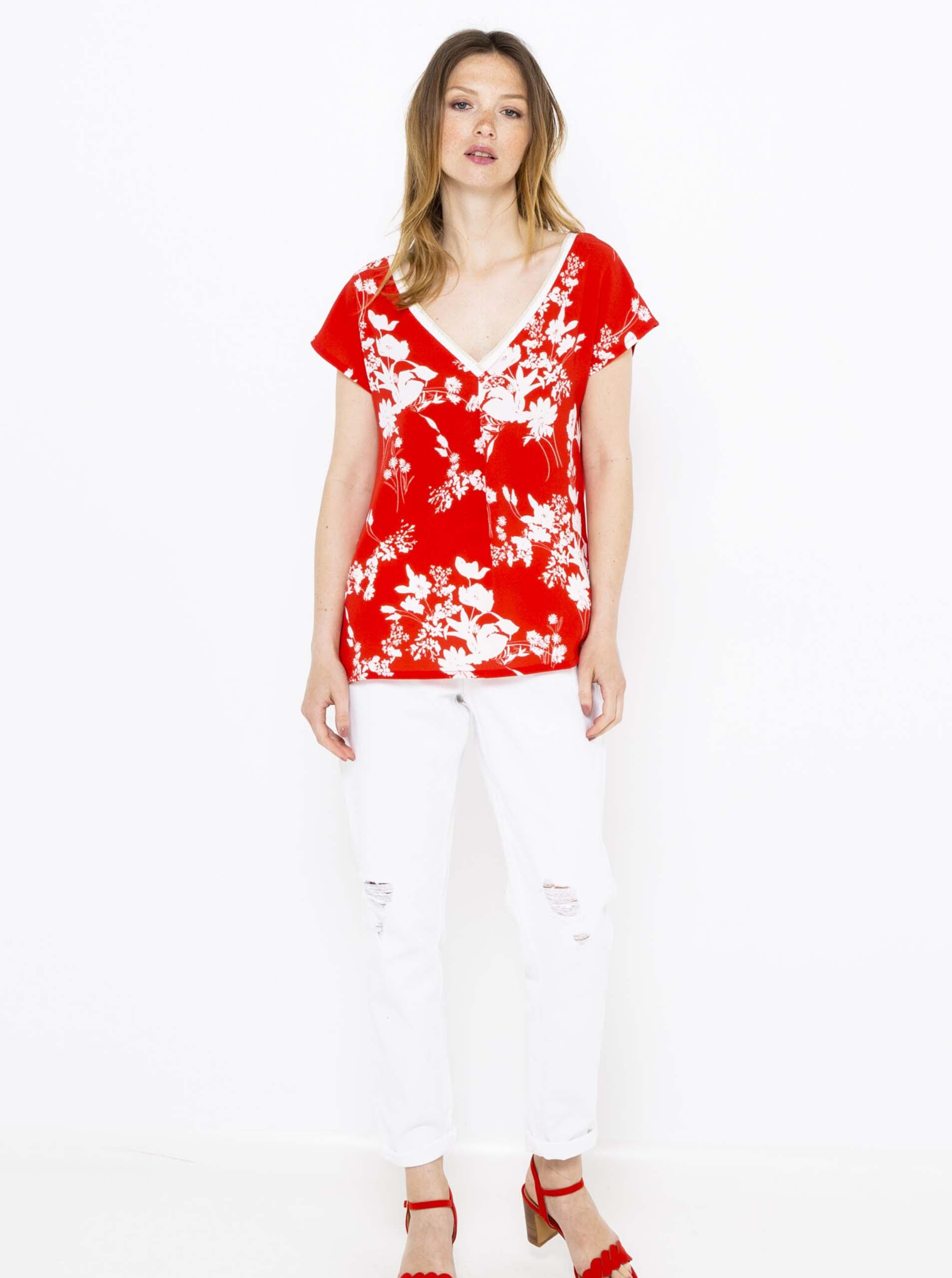 Tricouri pentru femei CAMAIEU - rosu