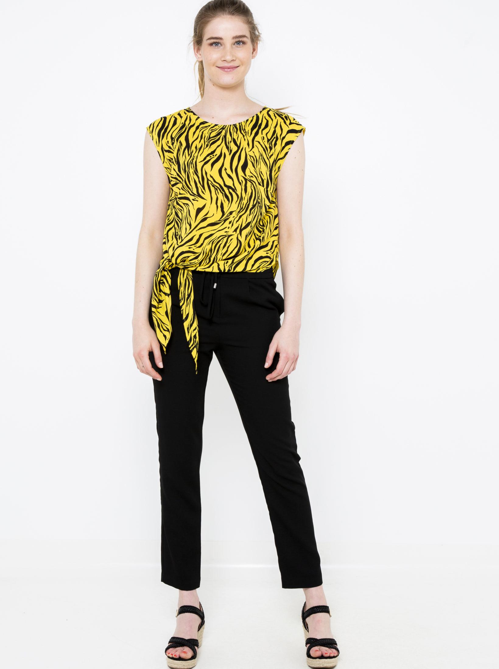 CAMAIEU galbene bluză cu tipar