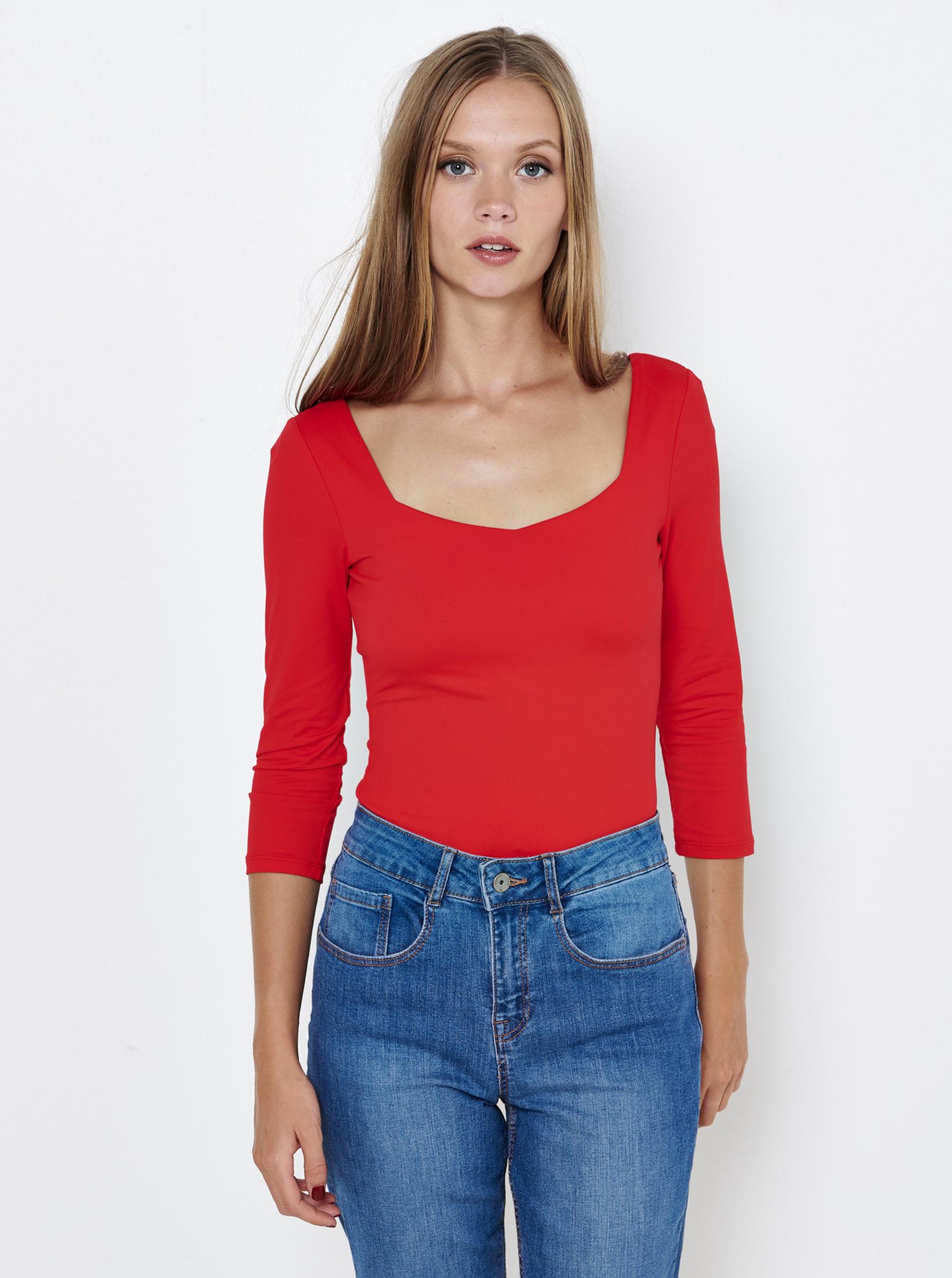 Bluze pentru femei CAMAIEU - rosu