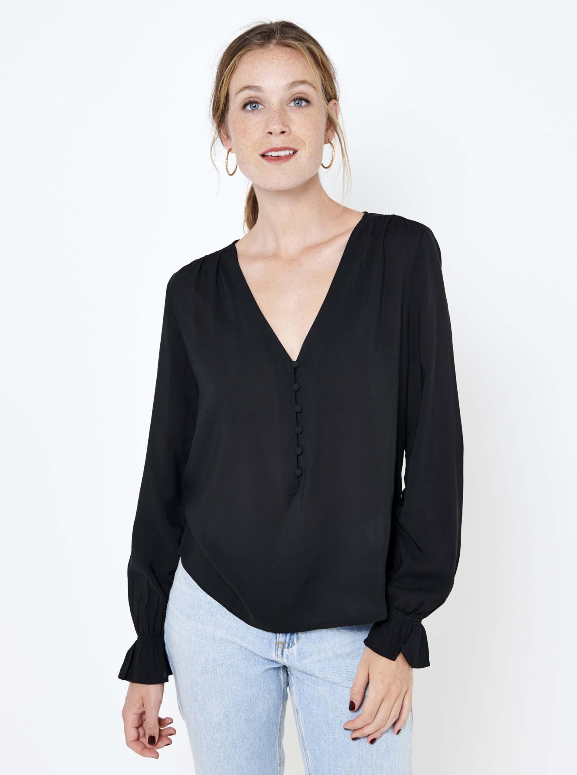 CAMAIEU negre bluză