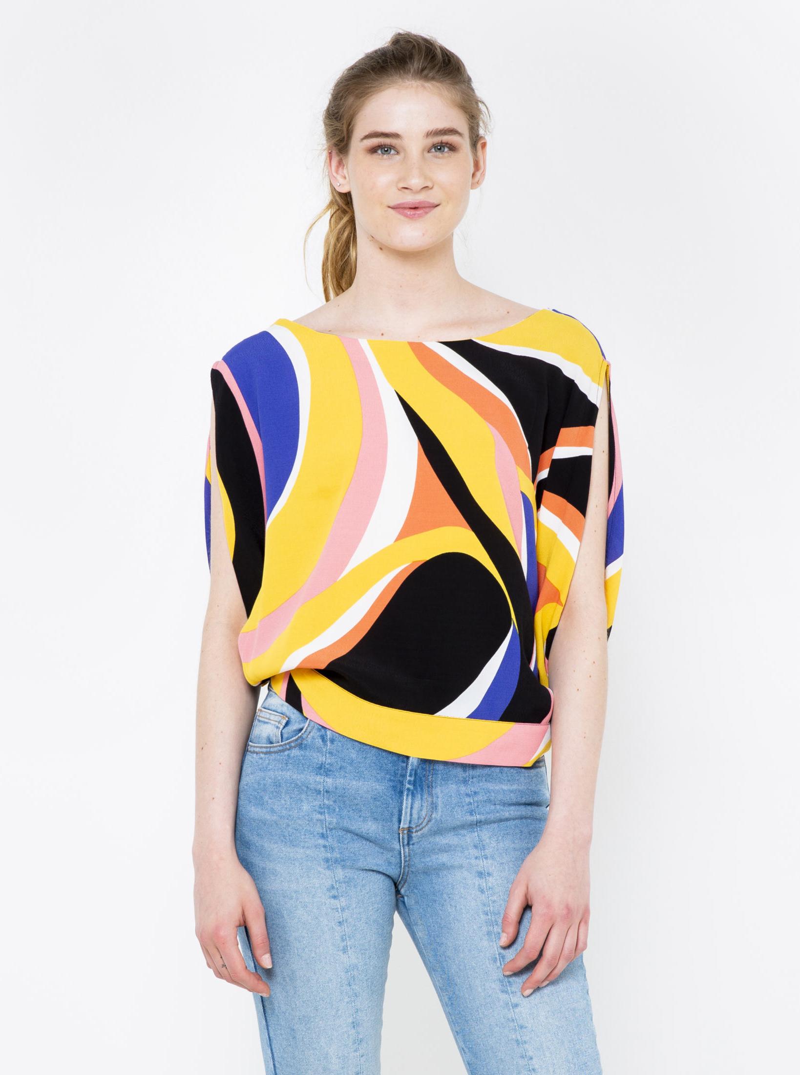 CAMAIEU colorate bluză cu decupaje