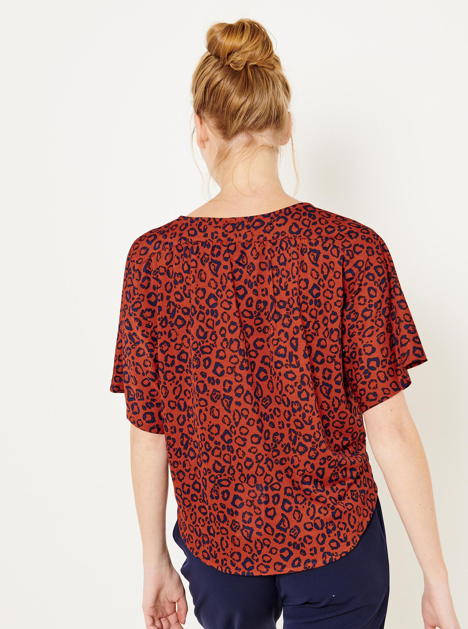 CAMAIEU portocalii bluză cu tipar