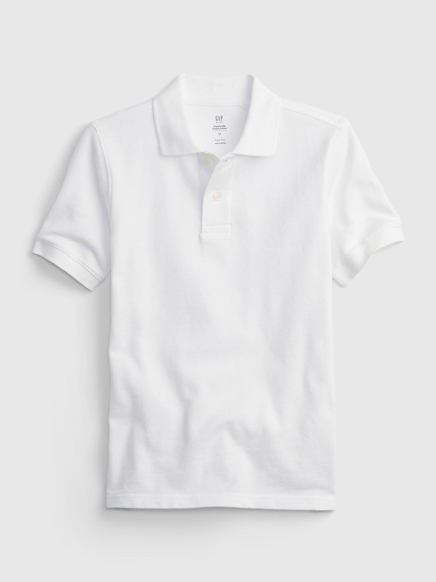 GAP Uni Polo Tricou pentru copii Alb