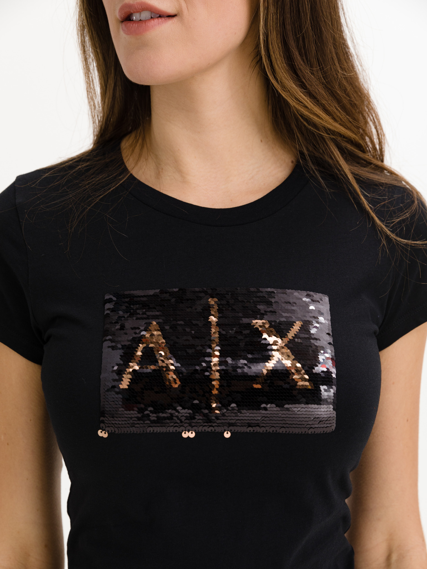 Armani Exchange negre de dama tricou