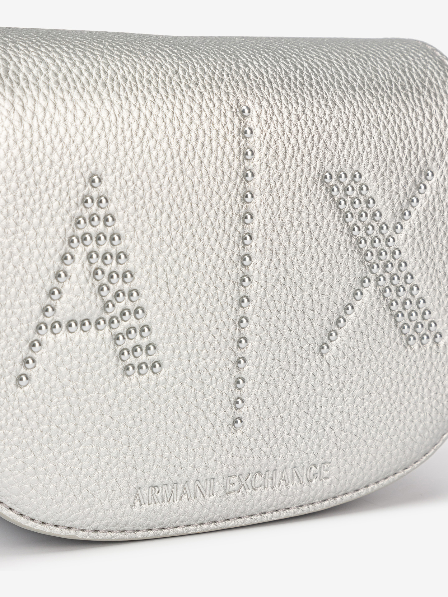 Armani Exchange argintii geanta