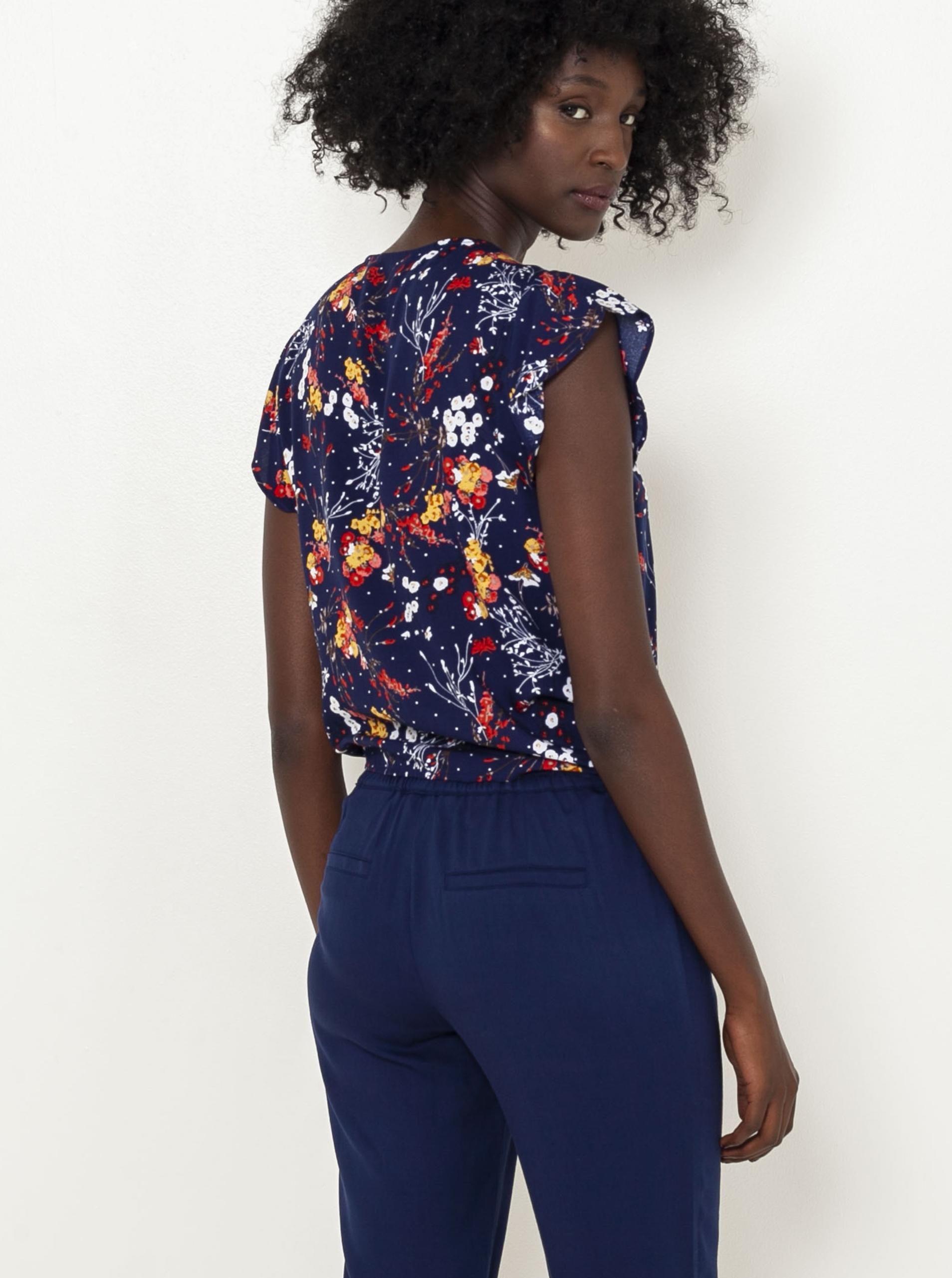 CAMAIEU albastre bluză cu motiv floral